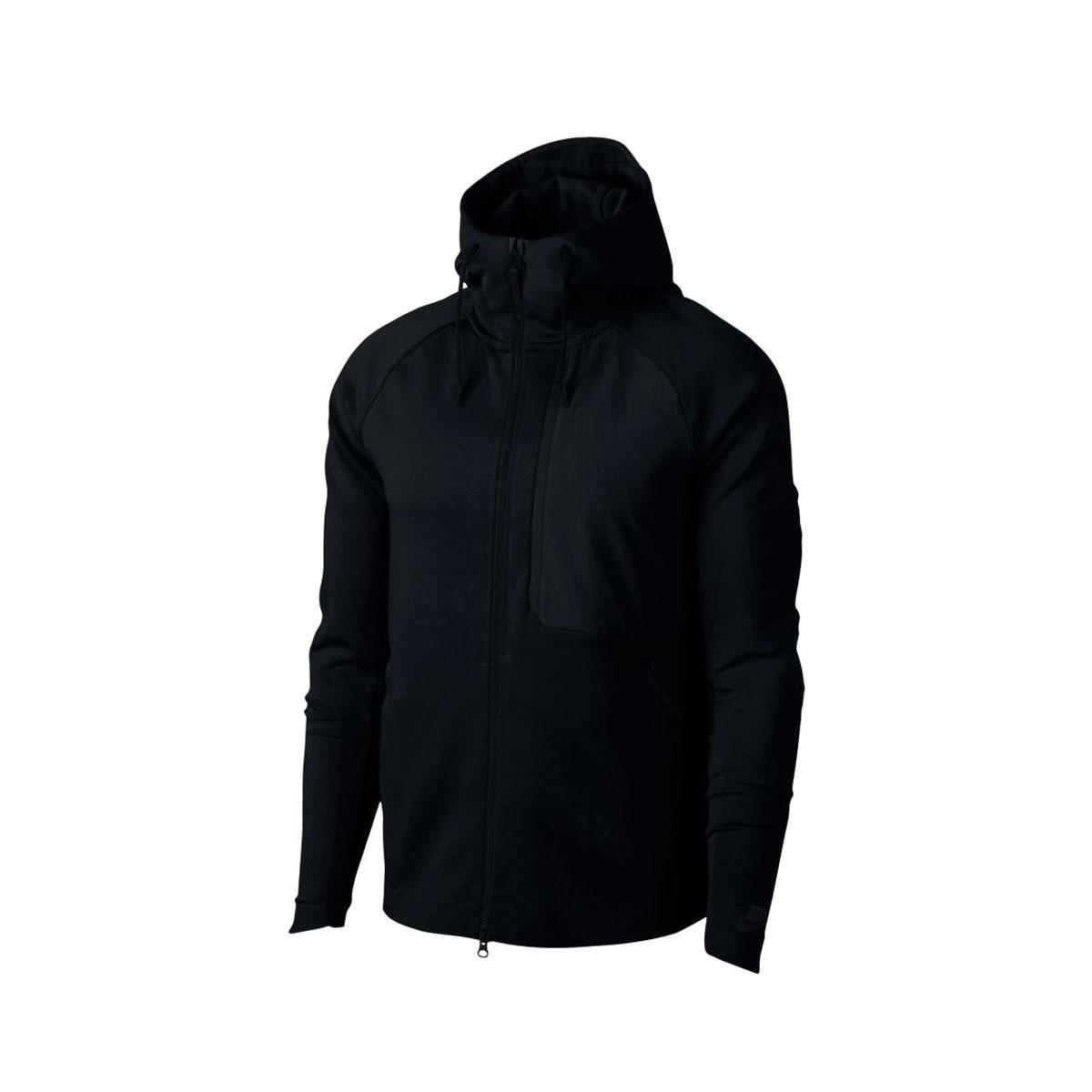 NIKE AS M NSW TCH FLC JKT HD SSNL(ナイキ テック フリース シーズナル フーディ ジャケット 2.0)BLACK/BLACK【メンズ ジャケット】18SP-I