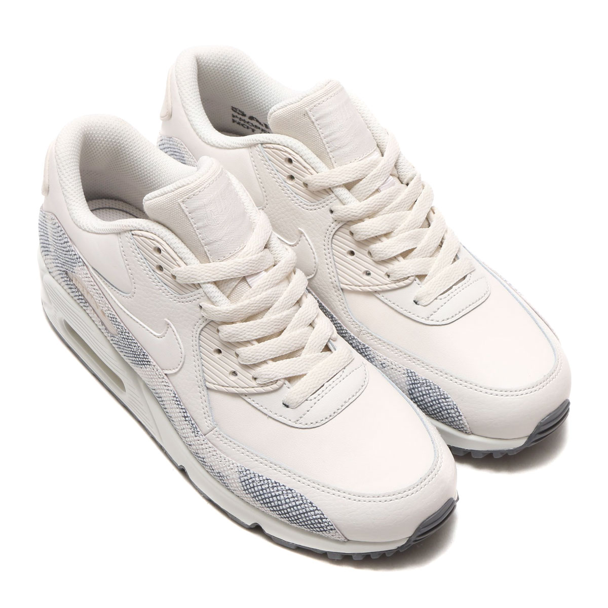 NIKE WMNS AIR MAX 90 PRM (Nike women Air Max 90 premium)  (PHANTOM PHANTOM-GUNSMOKE-SUMMIT WHITE) 17HO-S 789c1ba3a