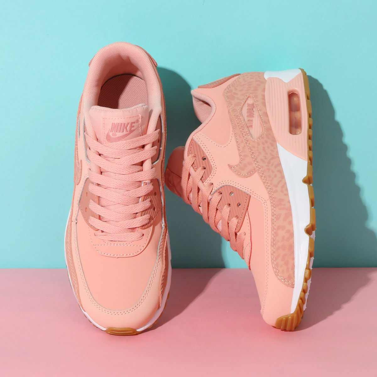NIKE AIR MAX 90 LTR SE GG (Kie Ney AMAX 90 leather SE GS) (CORAL STARDUST/RUST PINK-WHITE) 18SP-I