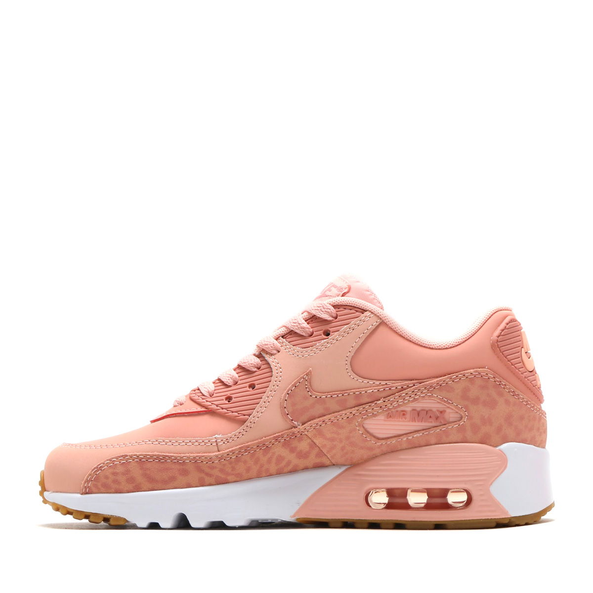 2075ab91beb1 NIKE AIR MAX 90 LTR SE GG (Kie Ney AMAX 90 leather SE GS) (CORAL STARDUST RUST  PINK-WHITE) 18SP-I