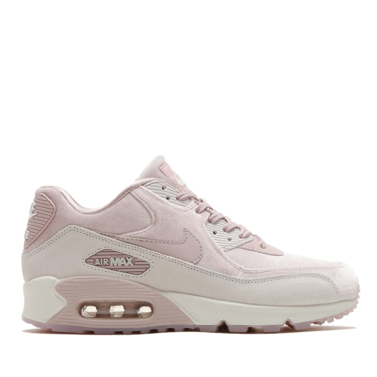 NIKE WMNS AIR MAX 90 LX (Nike women Air Max 90 LX) (PARTICLE ROSE PARTICLE  ROSE-VAST GREY) 18SP-S 697baf072