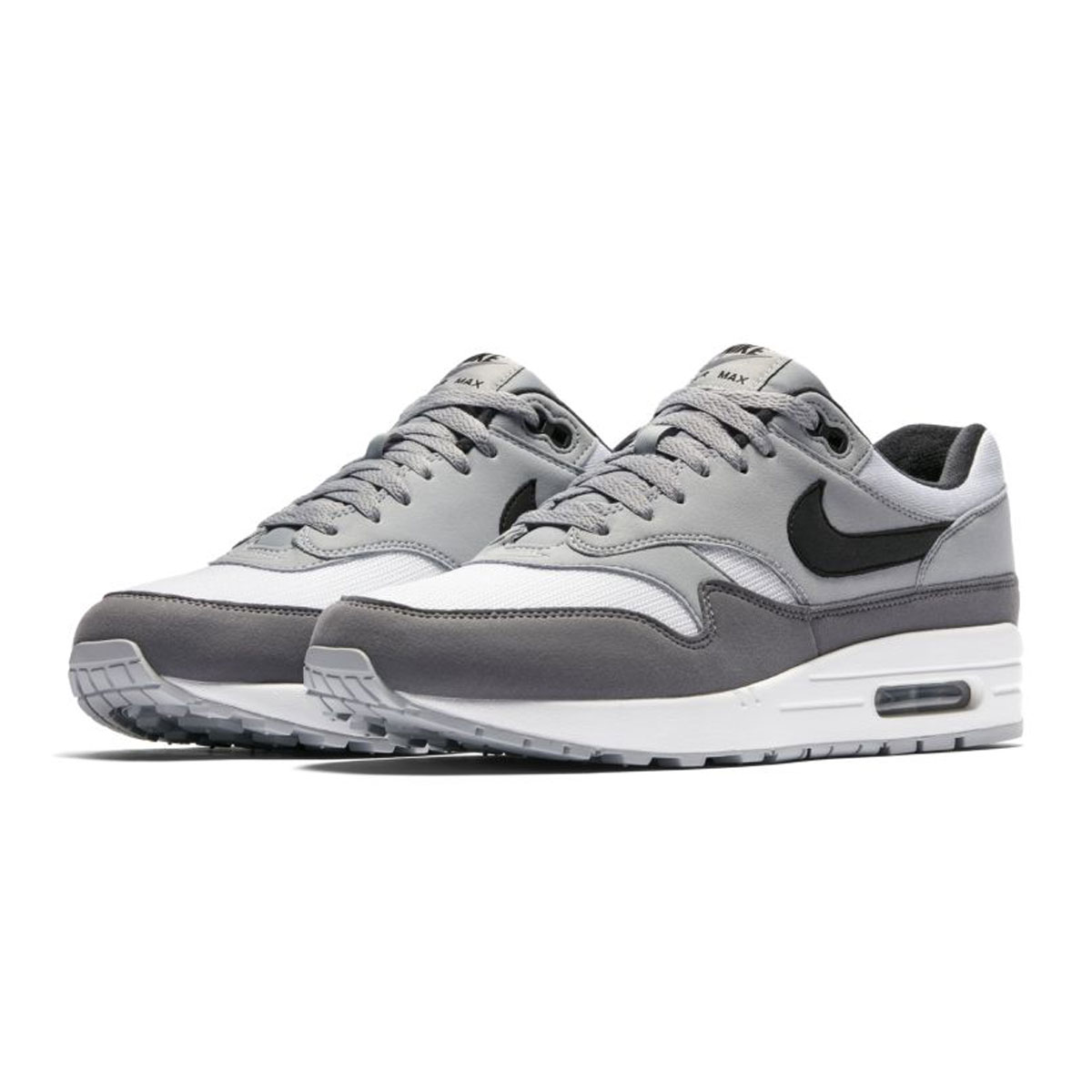 sports shoes bf2e2 602b4 NIKE AIR MAX 1 (Kie Ney AMAX 1) WHITE BLACK-WOLF GREY ...