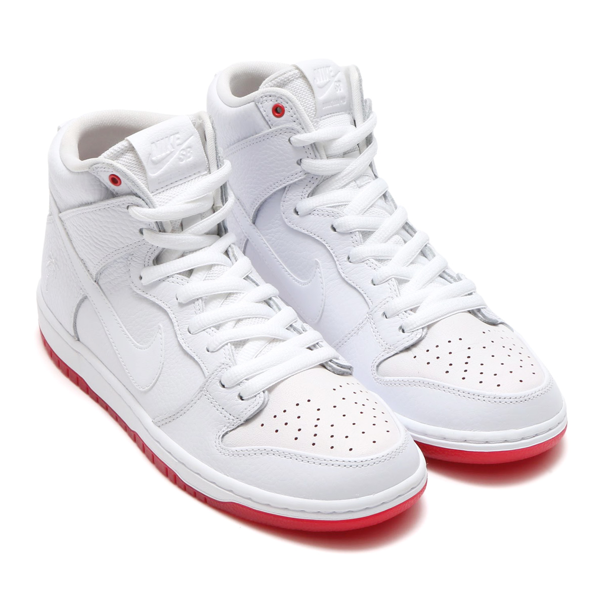 10fd31ceccbf NIKE SB ZOOM DUNK HIGH PRO QS (Nike SB zoom dunk high professional QS) WHITE  WHITE-UNIVERSITY RED 18SP-S