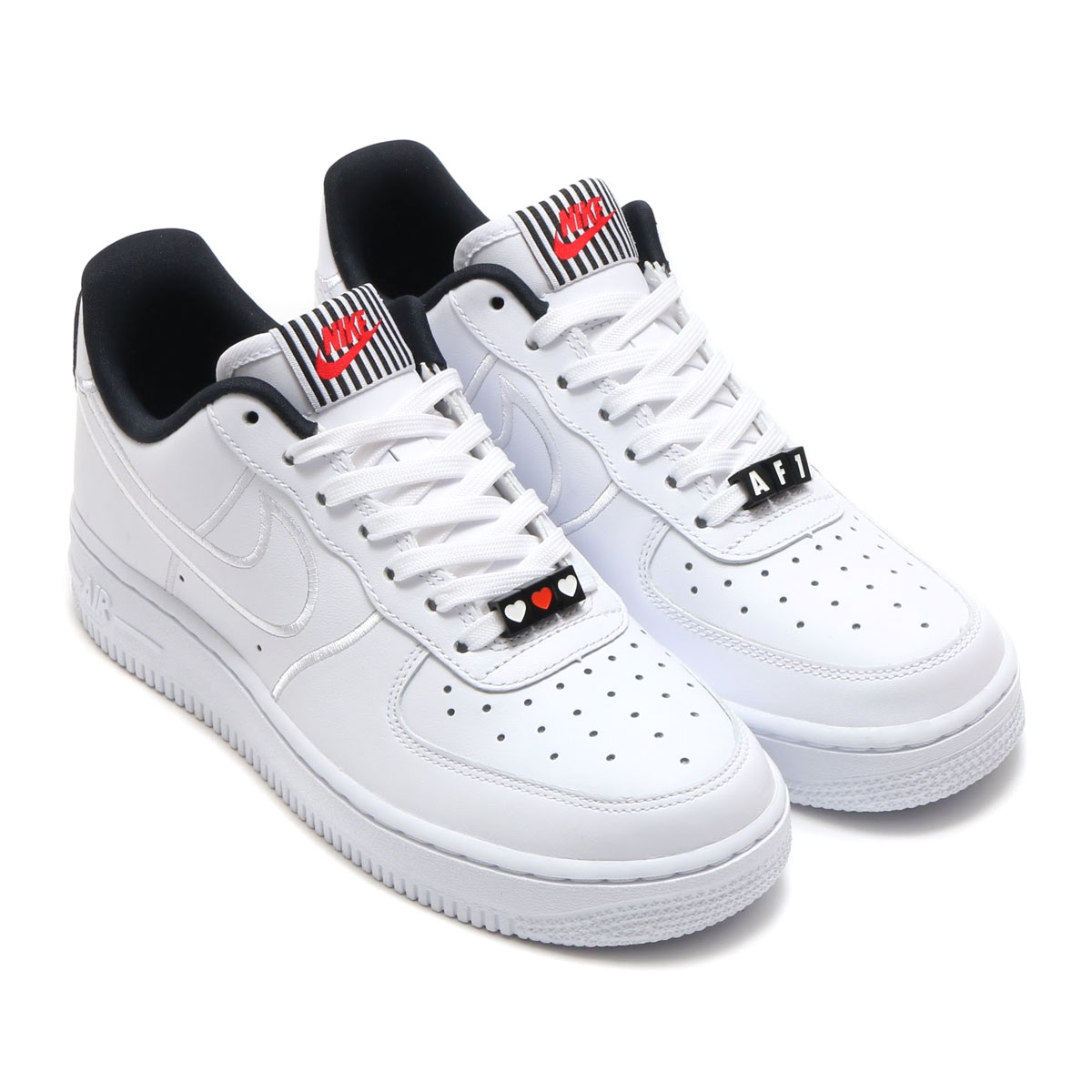 NIKE W AIR FORCE 1  07 SE LX (Nike women air force 1 07 SE LX)  (WHITE WHITE-BLACK) 18SP-S 2e295bf49