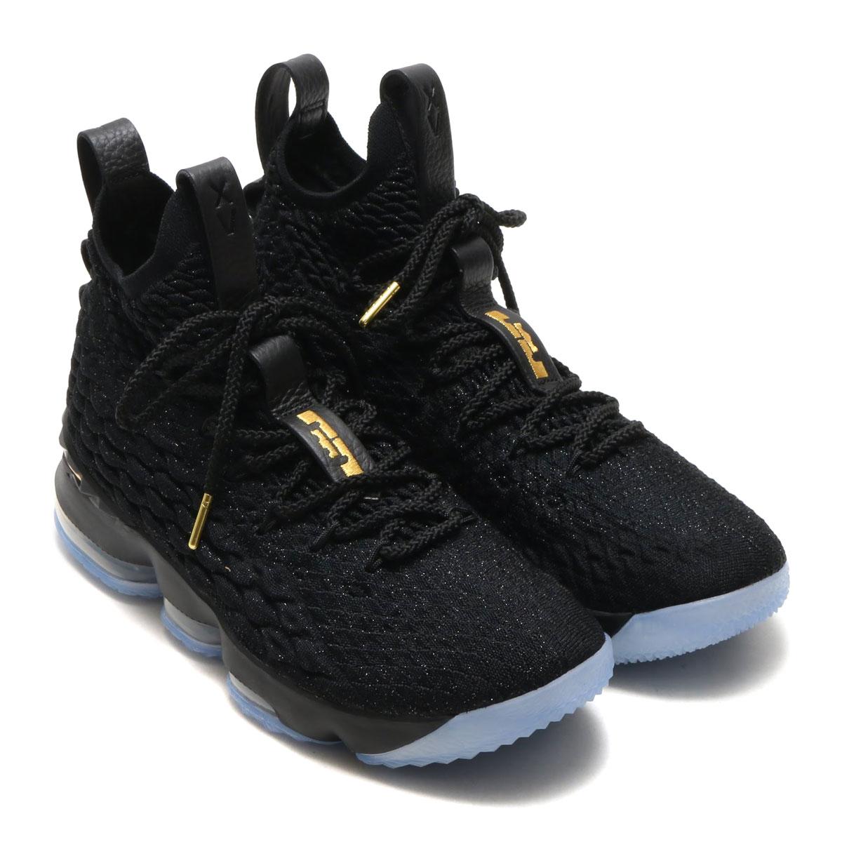 8fe0ae9ef133 NIKE LEBRON XV EP (Nike Revlon 15 EP) (BLACK METALLIC GOLD-BLACK) 18SP-S