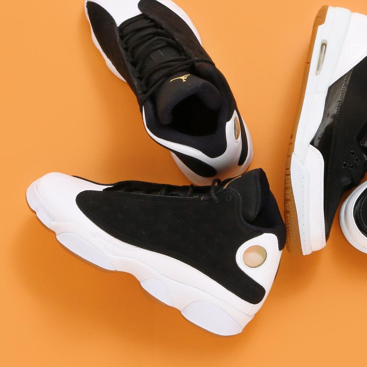 ed046f5e47d NIKE AIR JORDAN RETRO 13 GG (Nike girls Air Jordan 13 nostalgic GG) (BLACK METALLIC  GOLD-WHITE-GUM MED BROWN)18SP-S