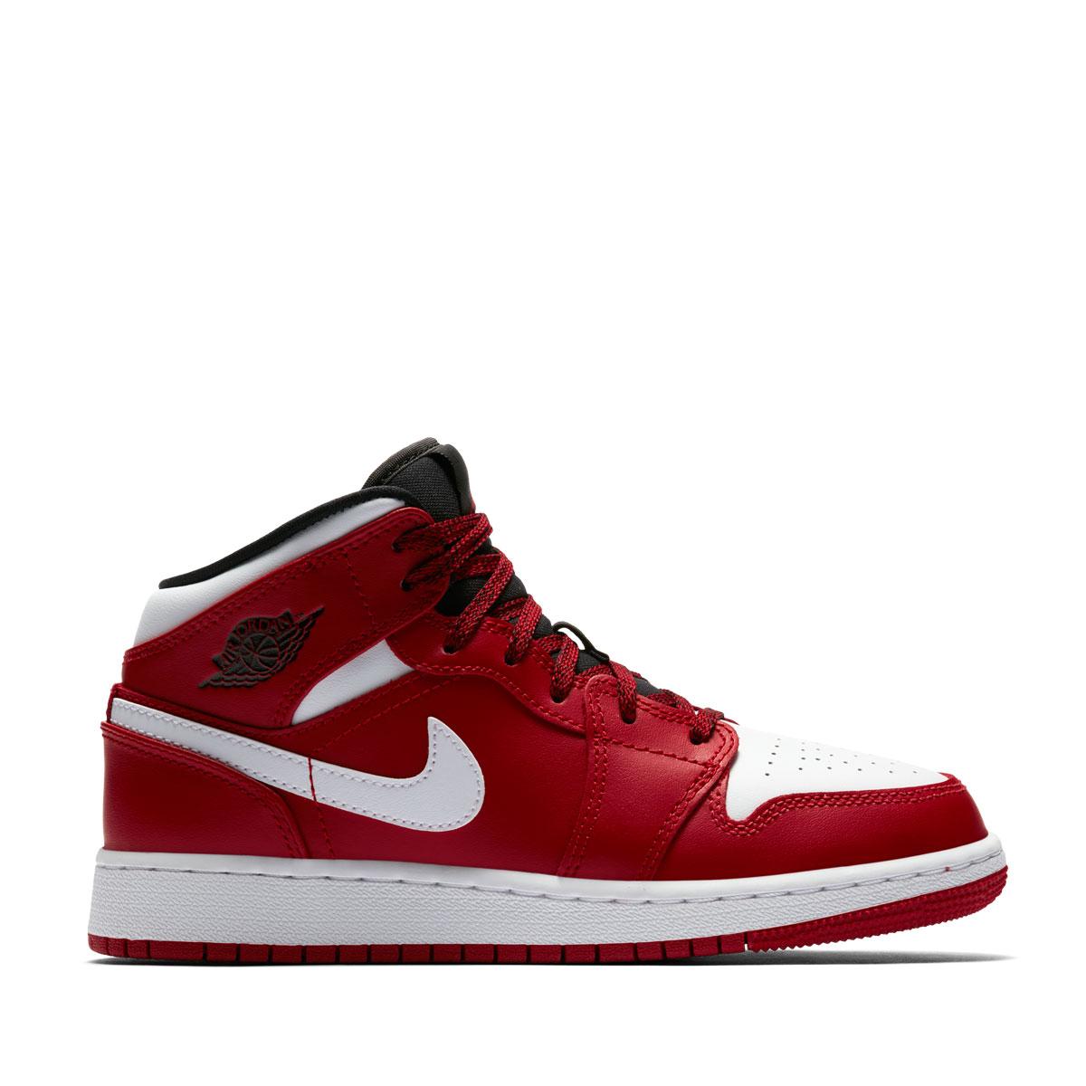 sale retailer c2b85 3fc1f ... NIKE AIR JORDAN 1 MID BG (Nike Air Jordan 1 mid BG) GYM RED ...