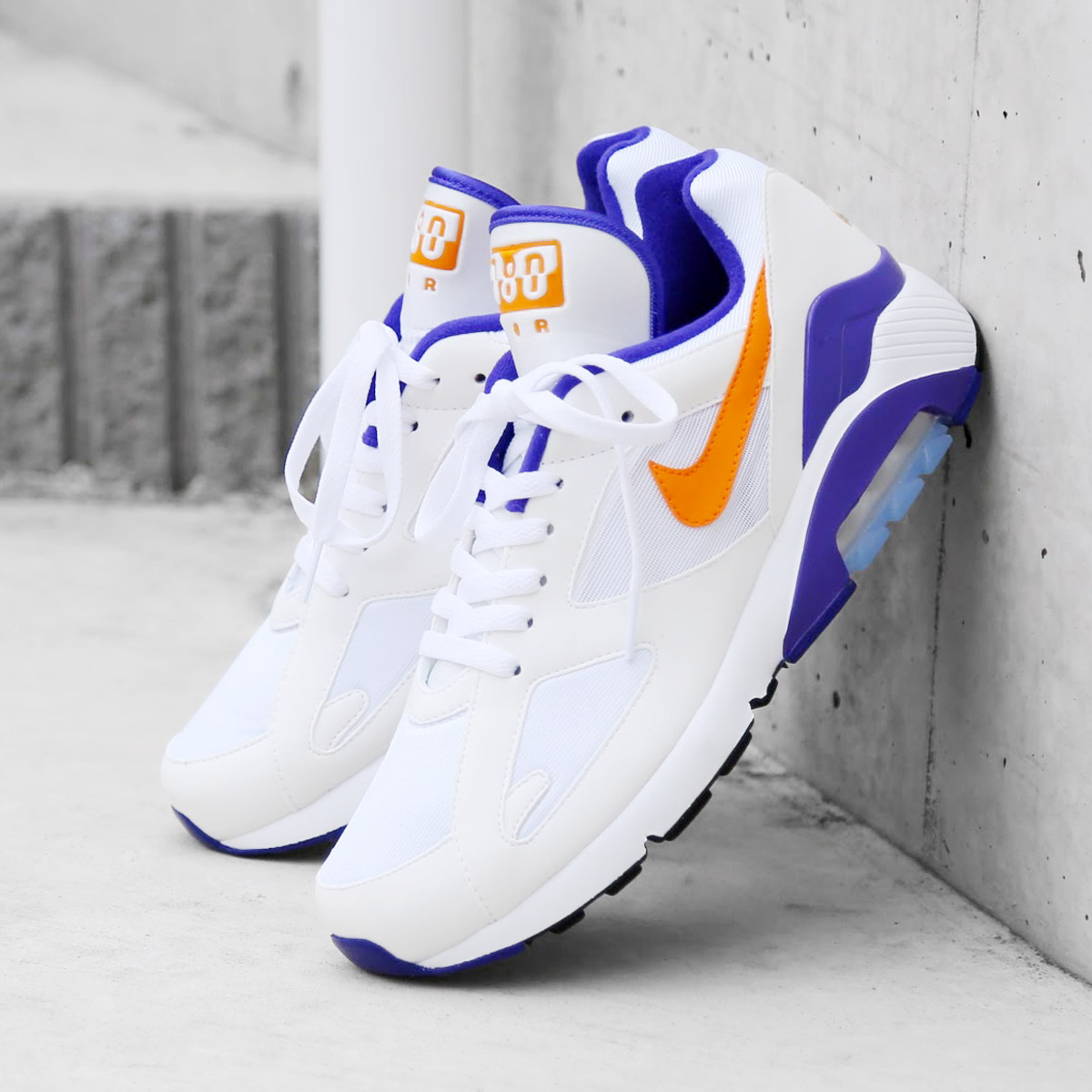 detailed pictures fdb87 b0034 NIKE AIR MAX 180 (Kie Ney AMAX 180) (WHITE BRIGHT CERAMIC-DARK CONCORD)  18SP-S