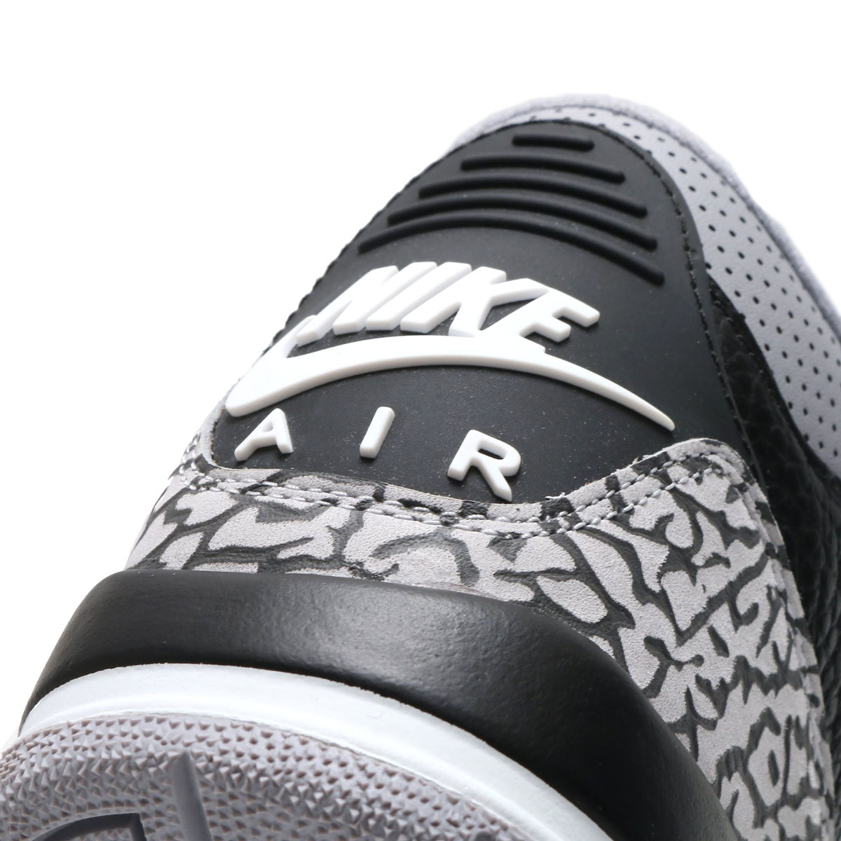 1c08533854ab NIKE AIR JORDAN 3 RETRO OG BG (Nike Air Jordan 3 nostalgic OG BG) BLACK FIRE  RED-CEMENT GREY-WHITE 18SP-S