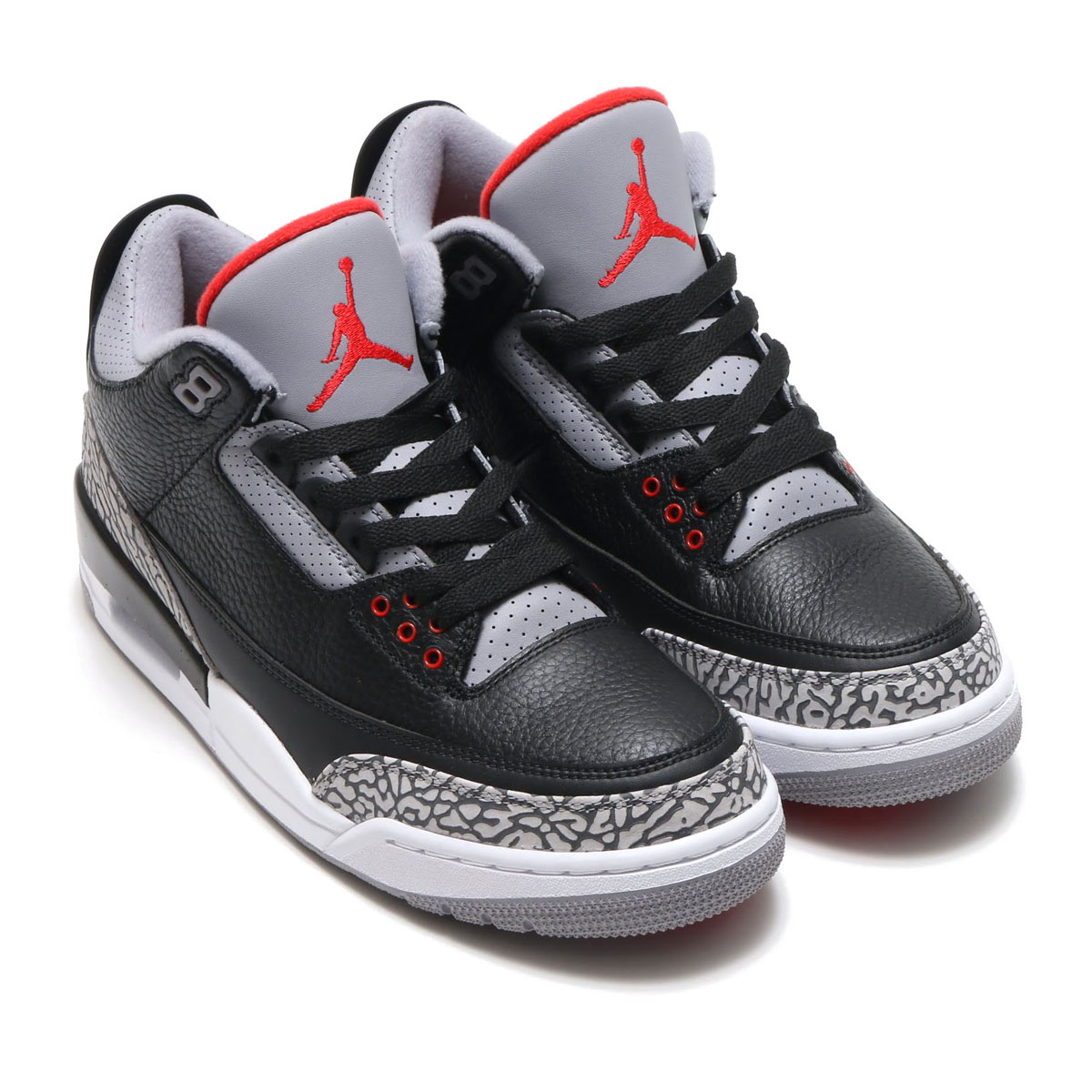 best service 617fd 5b799 NIKE AIR JORDAN 3 RETRO OG (Nike Air Jordan 3 nostalgic OG) (BLACK FIRE RED-CEMENT  GREY-WHITE) 18SP-S