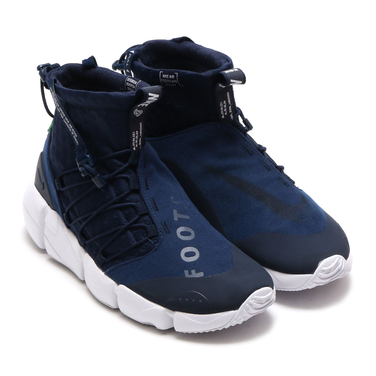 f027448a5f478d NIKEAIRFOOTSCAPEMIDUTILITY(ナイキエアフットスケープミッドユーティリティ)(OBSIDIAN THUNDERBLUE-SPINACHGREEN)18SP-