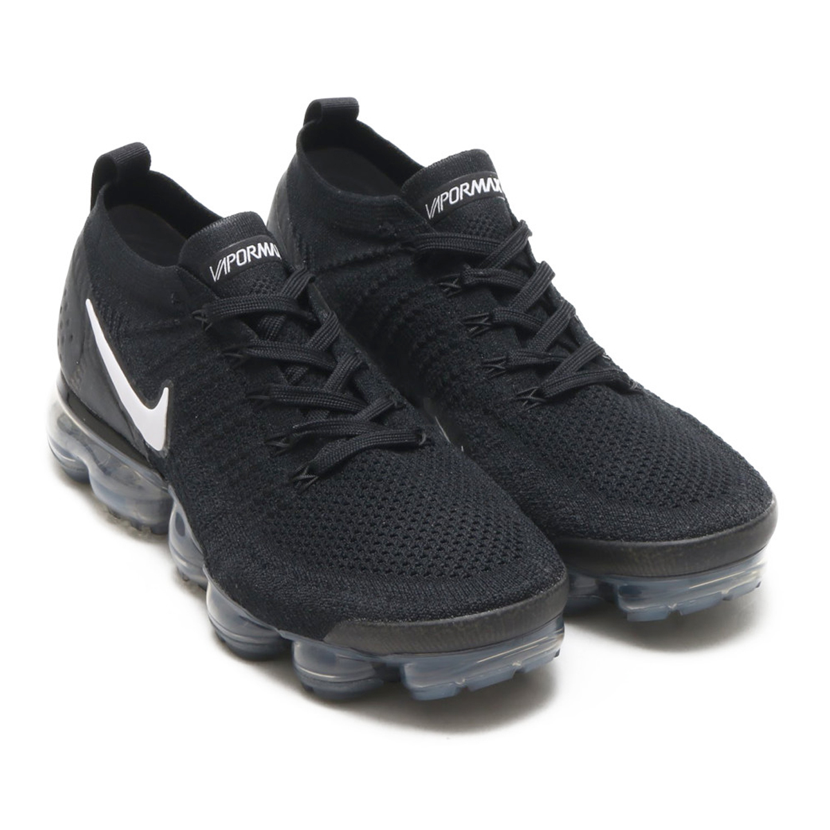 d78057fd0e68 NIKE AIR VAPORMAX FLYKNIT 2 (Nike air vapor max fried food knit 2) BLACK  WHITE-DARK GREY-METALLIC SILVER 18SP-I