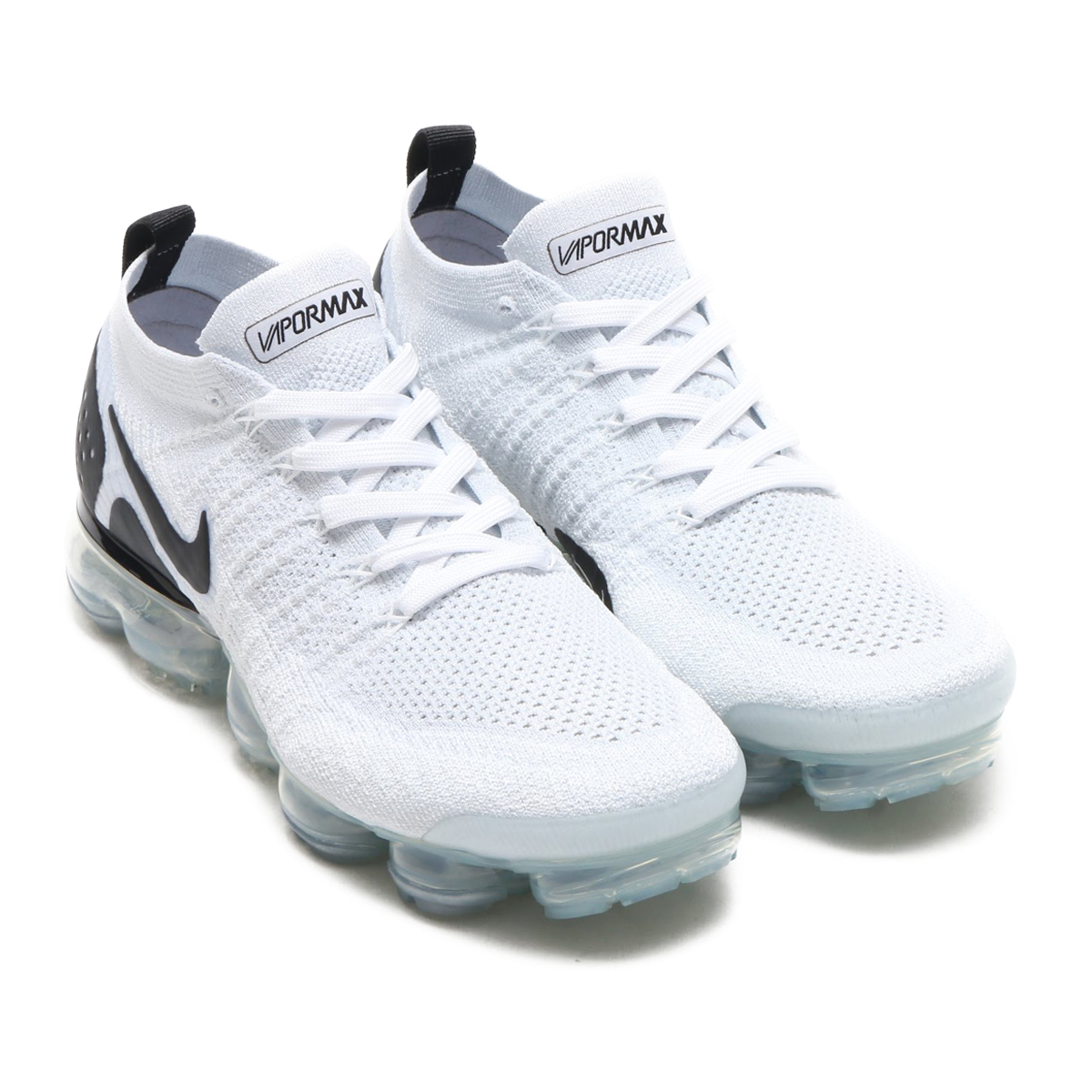 f1641678ad6e NIKE AIR VAPORMAX FLYKNIT 2 (Nike air vapor max fried food knit 2) (WHITE  BLACK-BLACK) 18SU-S