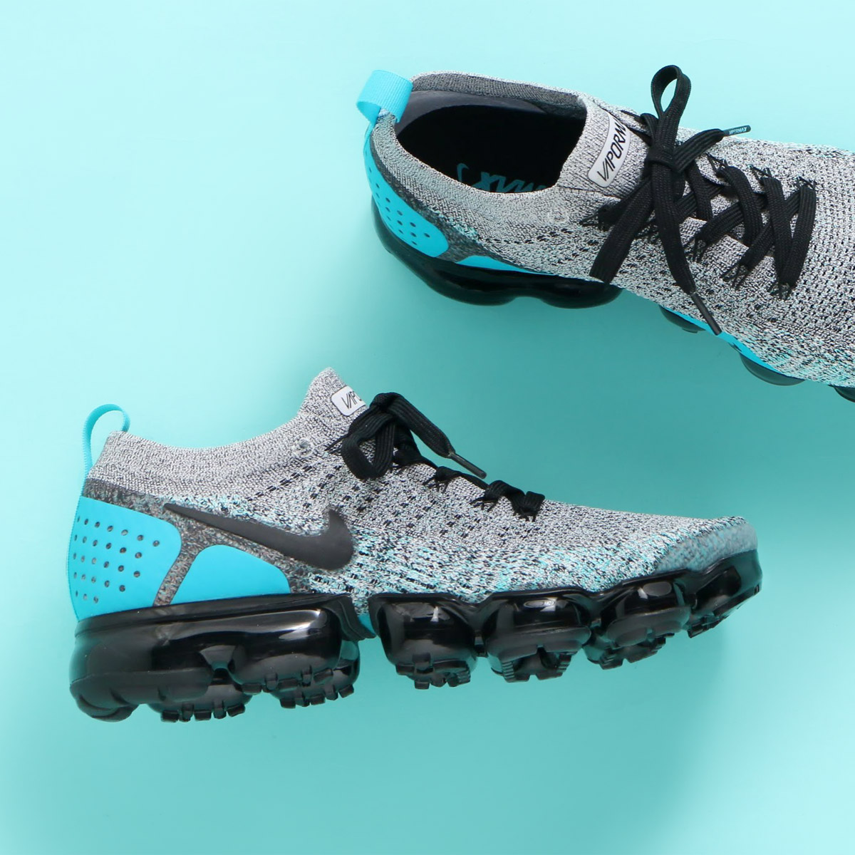 396608d4a5e6 スニーカー ナイキ WHITE NIKE AIR VAPORMAX FLYKNIT 2 BLACK 2 × フライニット 限定 ヴェイパーマックス  ...