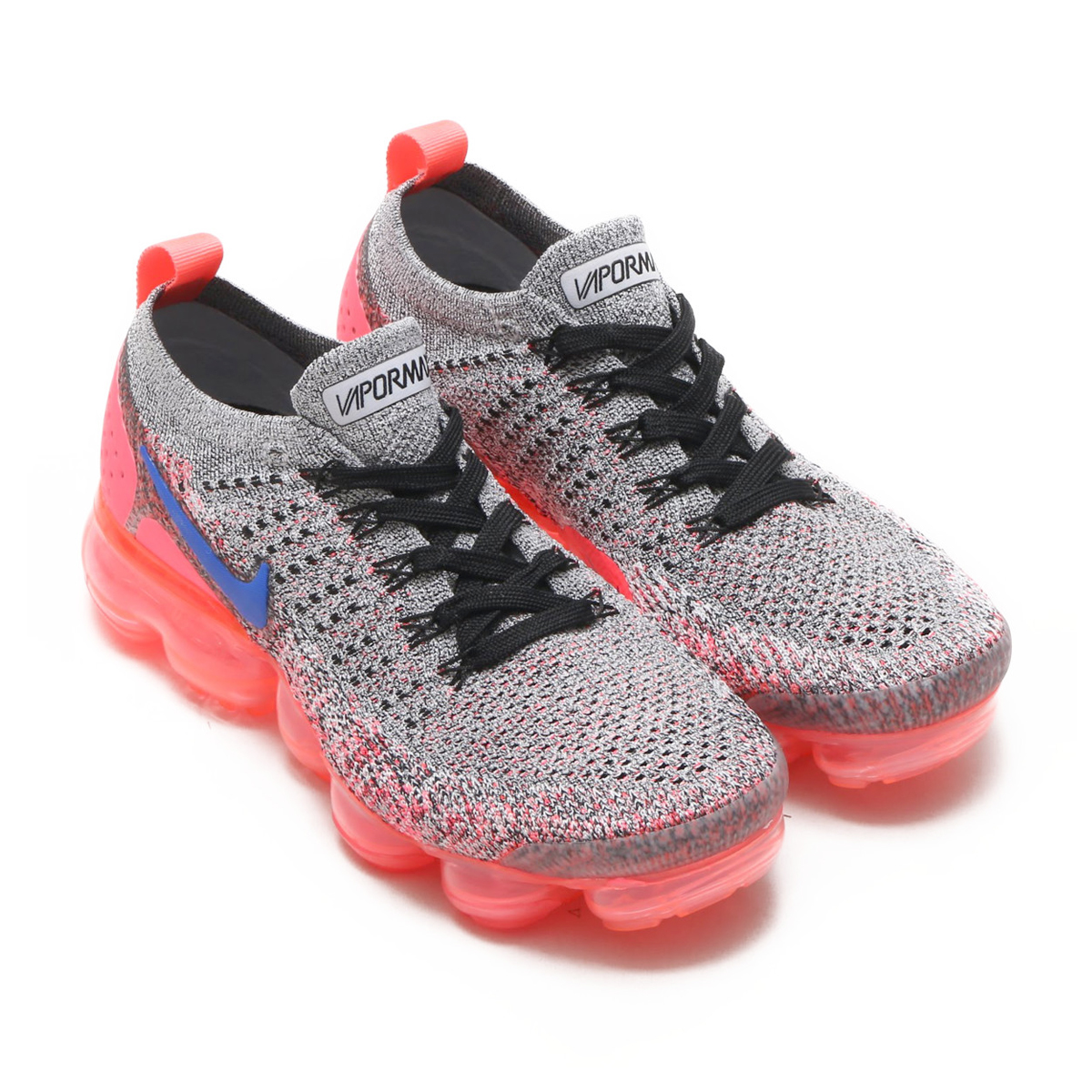 b6d8ceccaadc9 NIKE W AIR VAPORMAX FLYKNIT 2 (Nike women air vapor max fried food knit 2) ( WHITE ULTRAMARINE-HOT PUNCH-BLACK) 18SU-S