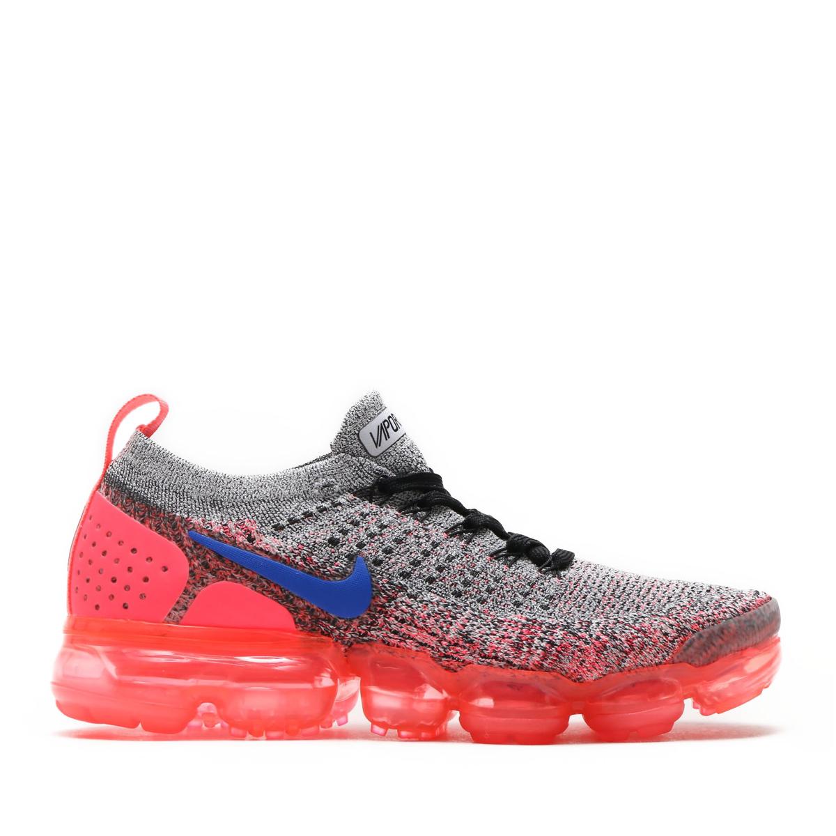 f98752c96f8 NIKE W AIR VAPORMAX FLYKNIT 2 (Nike women air vapor max fried food knit 2)  (WHITE ULTRAMARINE-HOT PUNCH-BLACK) 18SU-S
