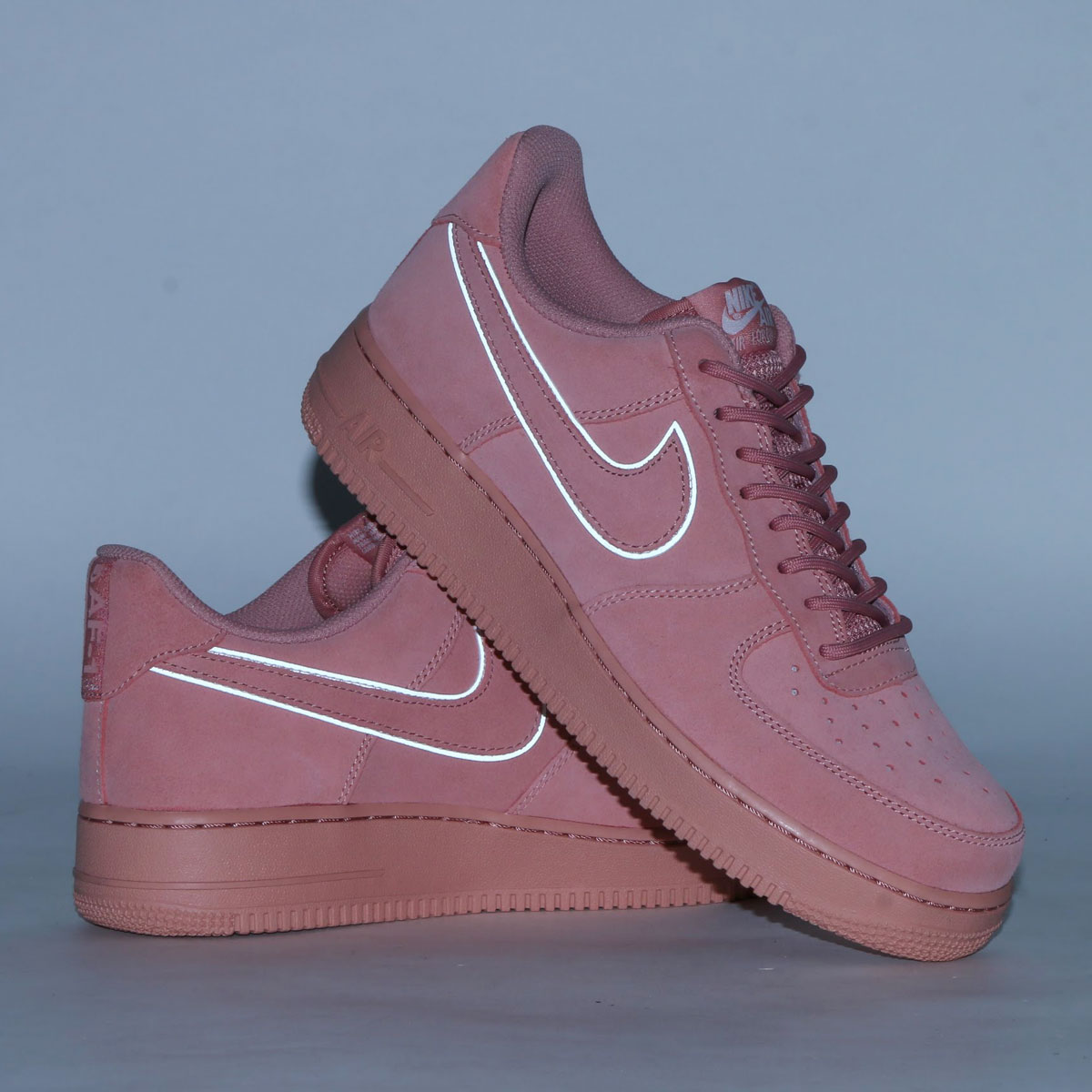 614b6831e nike wmns air force 1 upstep red stardust 4; nike air force 1 07 lv8 suede nike  air force 1 07 lv8 suede red stardust
