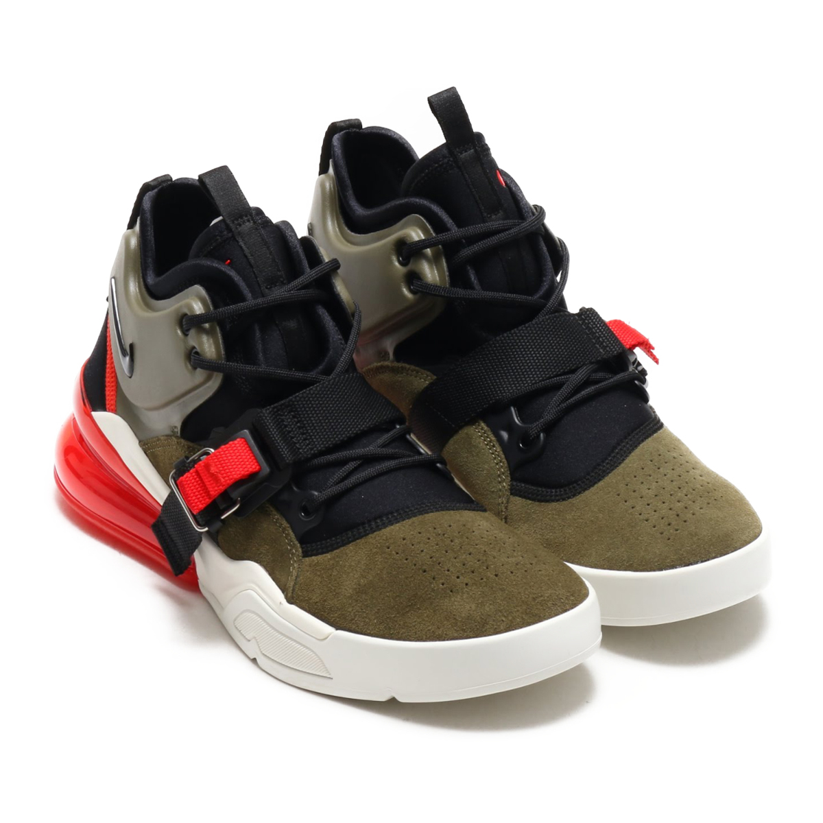 NIKE AIR FORCE 270(ナイキ エア フォース 270)(MEDIUM OLIVE/BLACK-CHALLENGE RED-SAIL)18SU-S