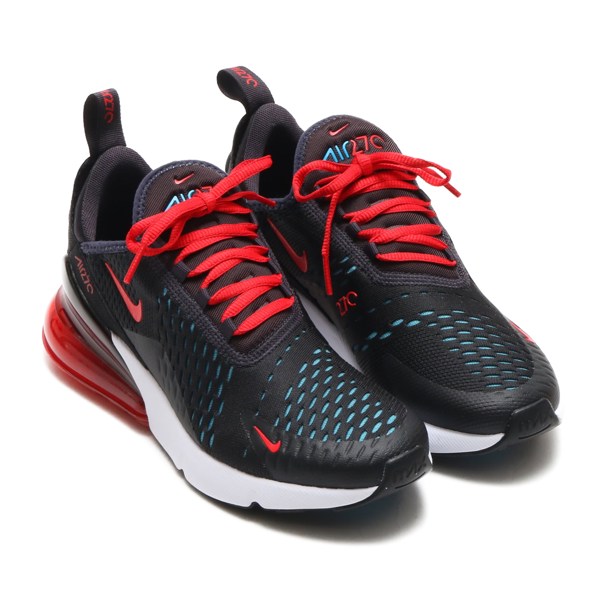 67ed66cf09 NIKE W AIR MAX 270 (Nike women Air Max 270) OIL GREY SPEED RED-NEO TURQ- BLACK 18SP-S