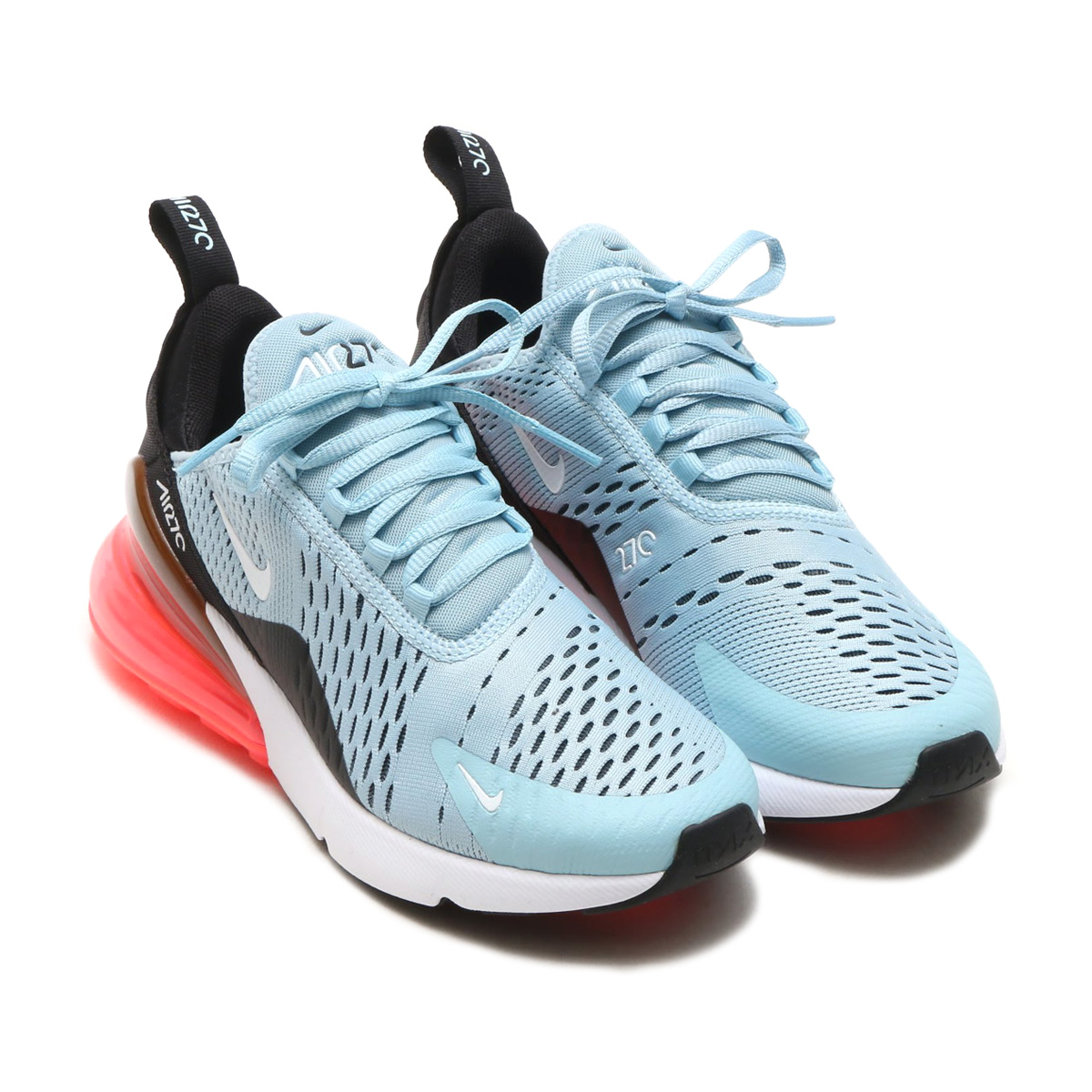 5af00b83f696 NIKE W AIR MAX 270 (Nike women Air Max 270) (OCEAN BLISS WHITE-BLACK-HOT  PUNCH) 18SP-S