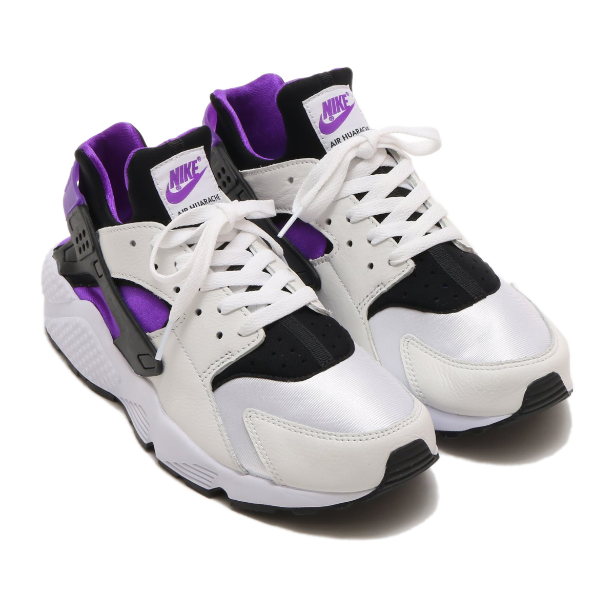 brand new 0079d 7fbc8 NIKE AIR HUARACHE RUN  91 QS (ナイキエアハラチラン 91 QS) (BLACK PURPLE PUNCH-BLACK- WHITE) 18SP-S