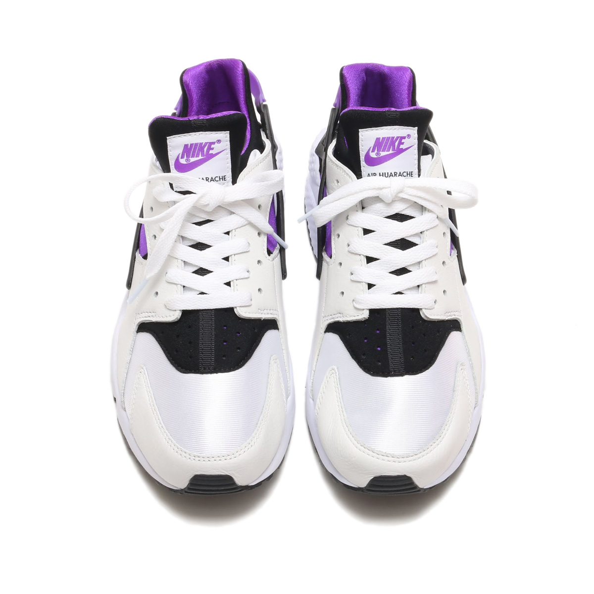 brand new 5328f db3dc NIKE AIR HUARACHE RUN  91 QS (ナイキエアハラチラン 91 QS) (BLACK PURPLE PUNCH-BLACK- WHITE) 18SP-S