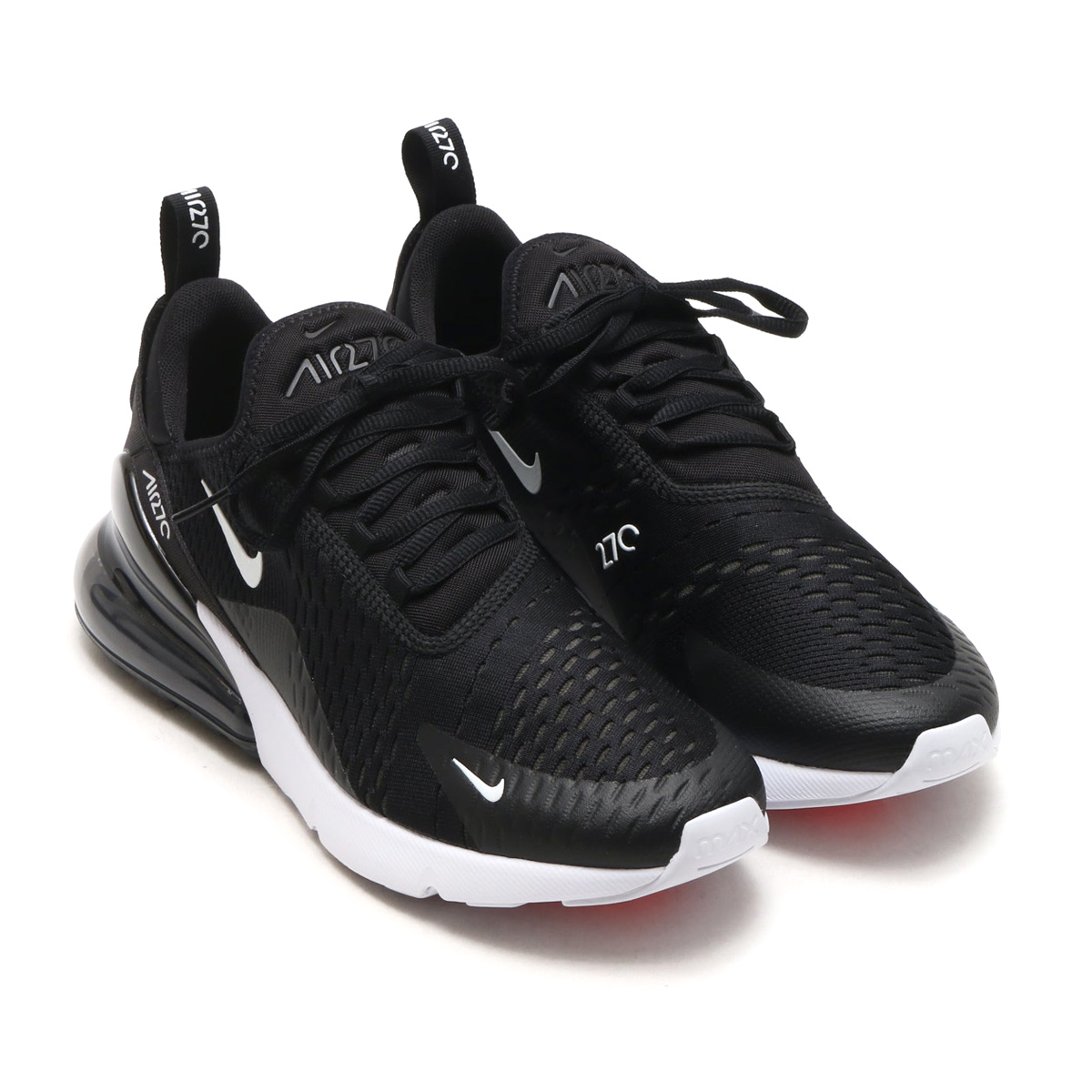 the latest b0f2a 1bb94 NIKE AIR MAX 270 (Kie Ney AMAX 270) (BLACK ANTHRACITE-WHITE ...