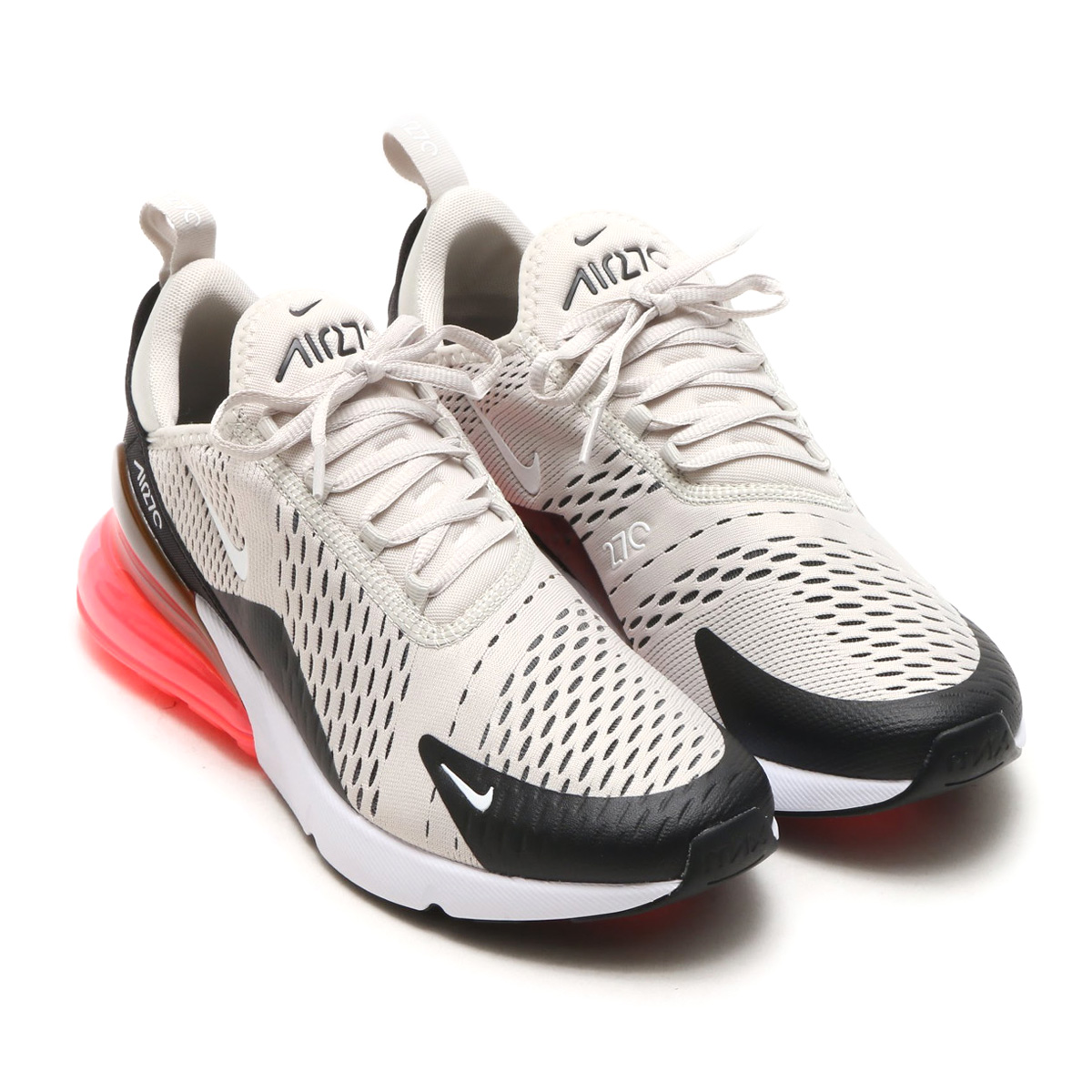 uk availability 7873d 13677 NIKE AIR MAX 270 (Kie Ney AMAX 270) (BLACKLIGHT BONE-HOT PUNCH-WHITE)  18SP-S