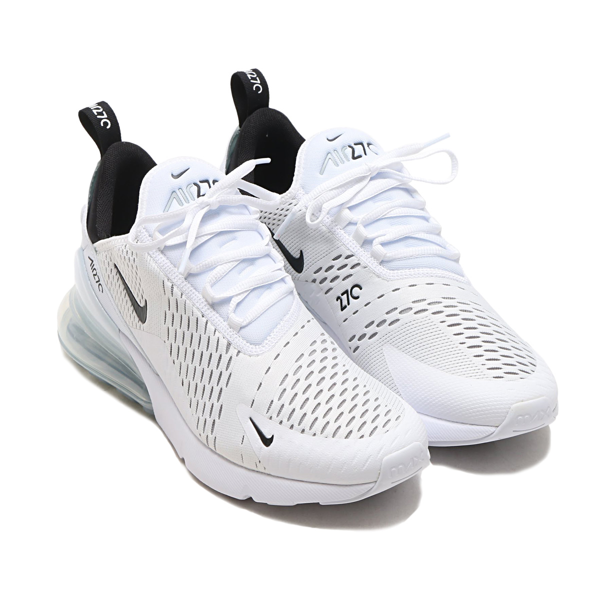 reputable site d380f ad0fc NIKE AIR MAX 270 (Kie Ney AMAX 270) (WHITE BLACK-WHITE ...