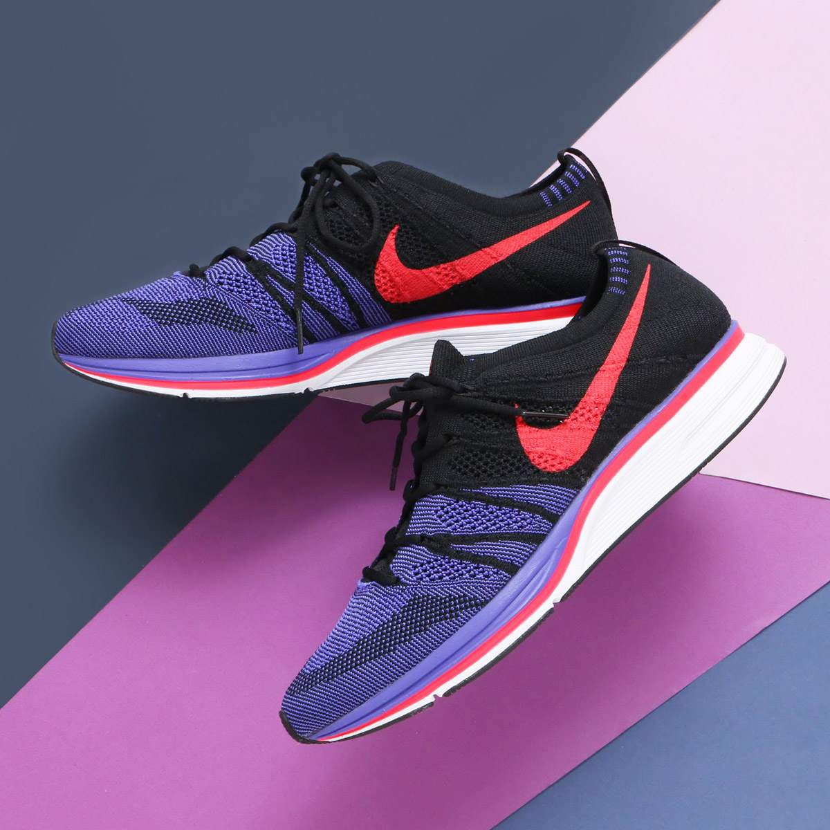 04e1b0ebeb9abe atmos pink  NIKE FLYKNIT TRAINER (Nike fried food knit trainer) (BLACK SIREN  RED-WHITE) 18SP-S