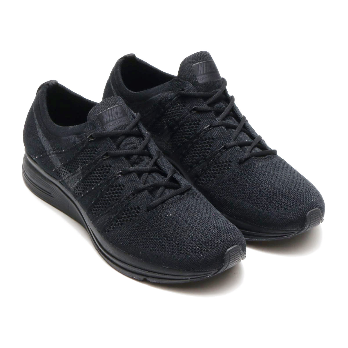 a8e1e105f7a7f3 NIKE FLYKNIT TRAINER (Nike fried food knit trainer) (BLACK ANTHRACITE-BLACK)  18SP-S