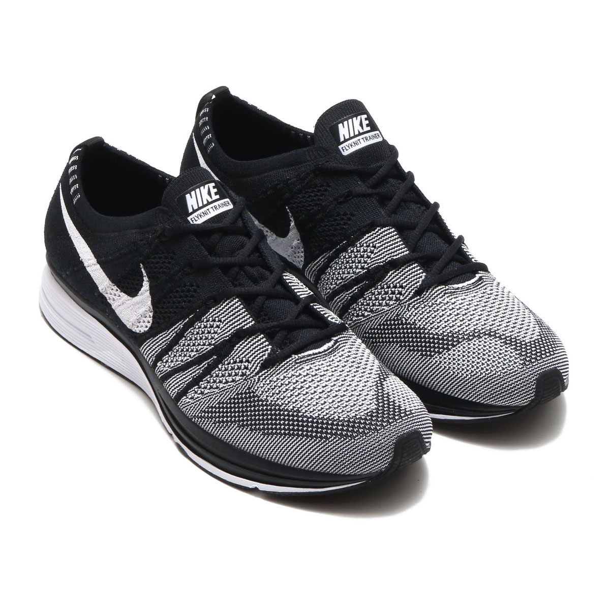 c580fcbb674a61 NIKE FLYKNIT TRAINER (Nike fried food knit trainer) (BLACK WHITE-WHITE) 18SP -S