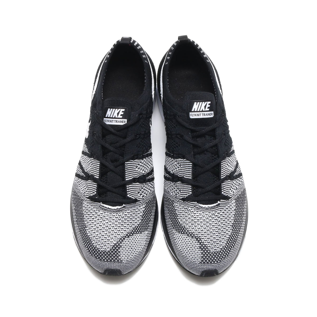 048e7d9cd2e7 NIKE FLYKNIT TRAINER (Nike fried food knit trainer) (BLACK WHITE-WHITE) 18SP -S