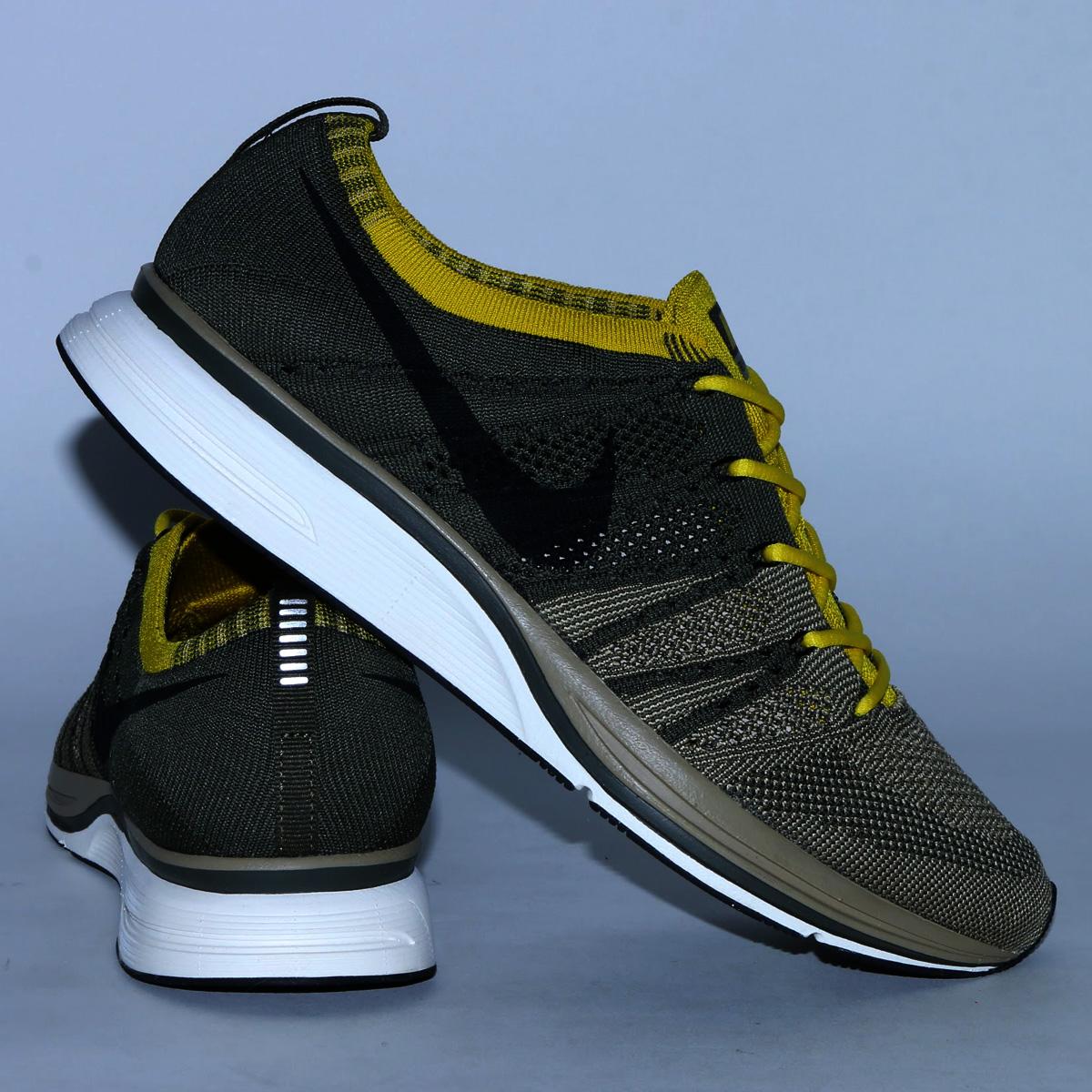 79d6909be16e NIKE FLYKNIT TRAINER (Nike fried food knit trainer) (CARGO  KHAKI BLACK-SAIL-BRIGHT CITRON) 18SP-S