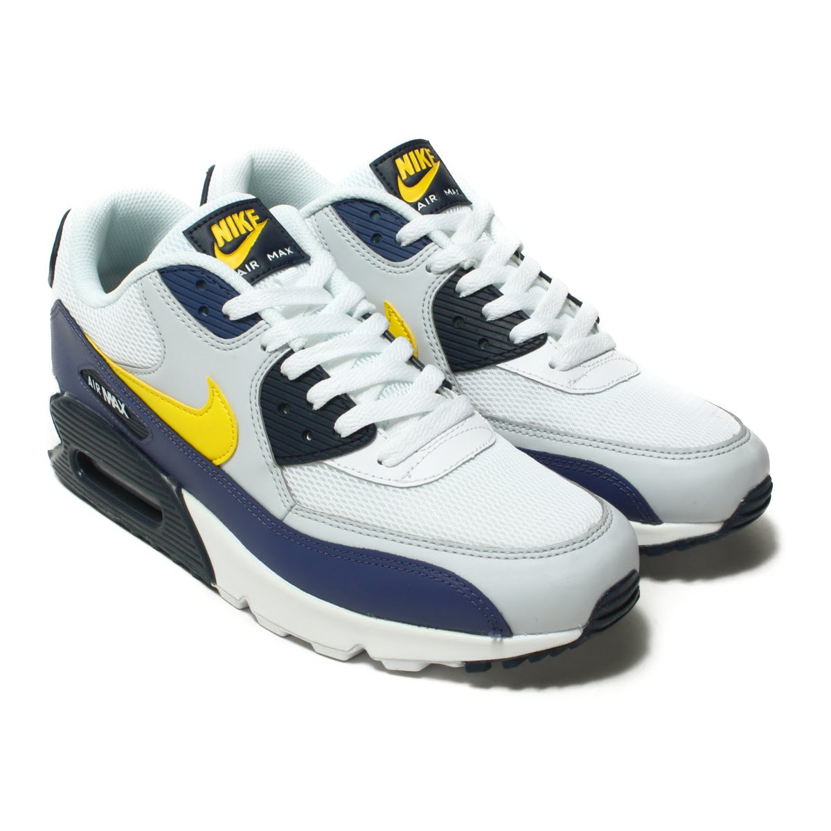 reputable site 893d2 817c1 NIKE AIR MAX 90 ESSENTIAL (Kie Ney AMAX 90 essential) WHITE TOUR YELLOW-BLUE  RECALL 18SP-I