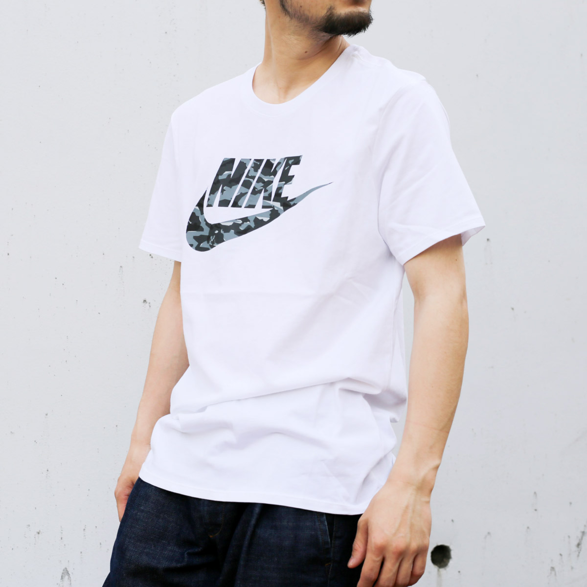 70bedf662a9e NIKE AS M NSW TEE CAMO PACK 2 (Nike duck pack T-shirt 2) (WHITE COOL  GREY WOLF GREY) 18SU-S
