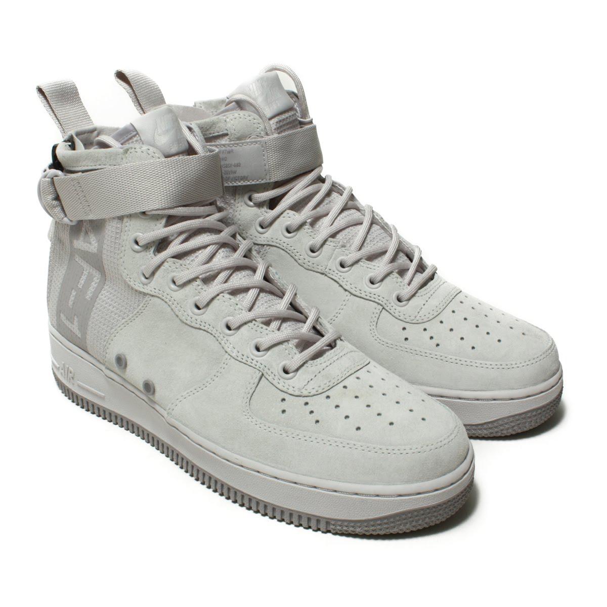 ★SALE ★ NIKE SF AF1 MID SUEDE (Nike SF AF 1 mid suede) VAST GREY/ATMOSPHERE  GREY 18SP-I
