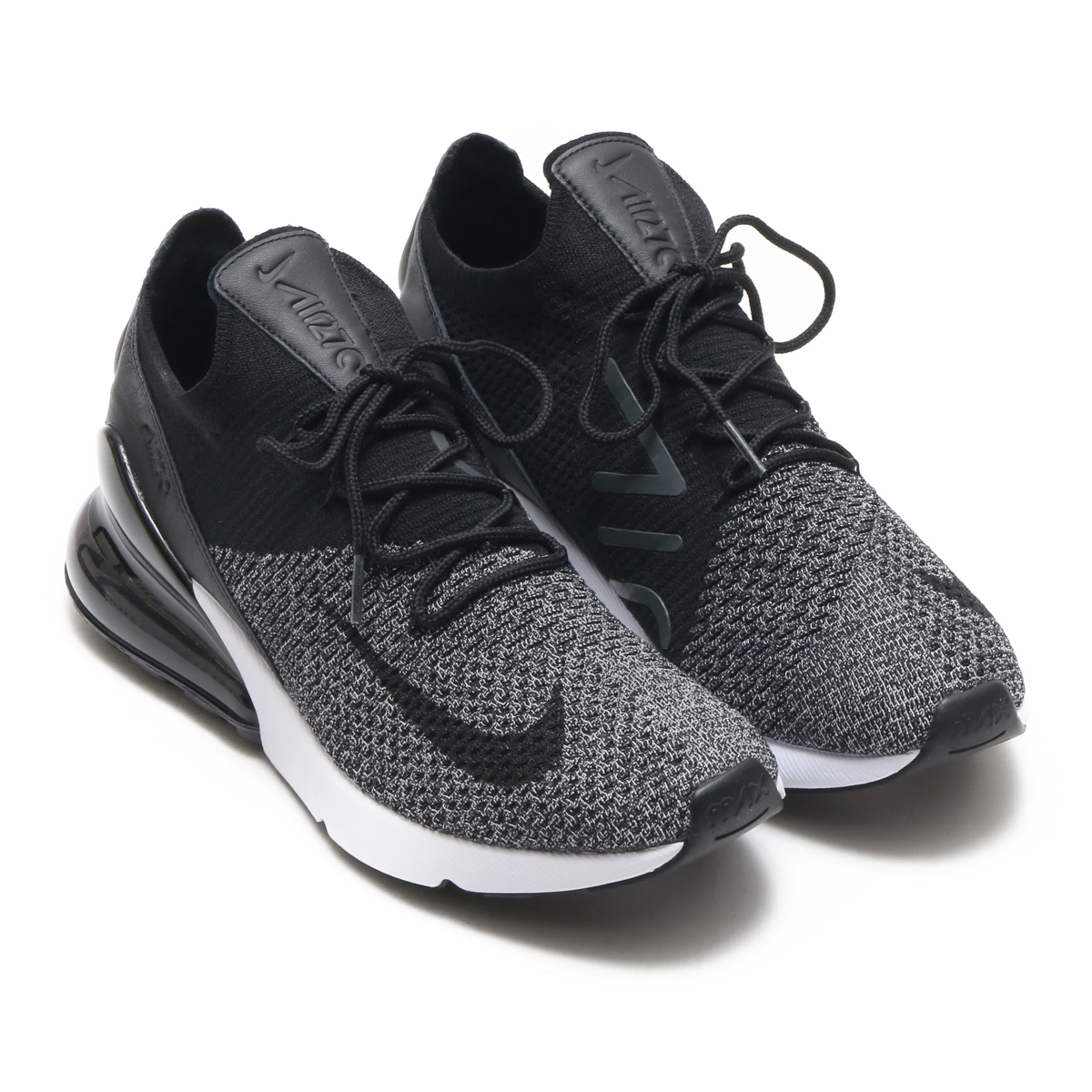b460bc7905 NIKE AIR MAX 270 FLYKNIT (Kie Ney AMAX 270 fried food knit) (BLACK ...
