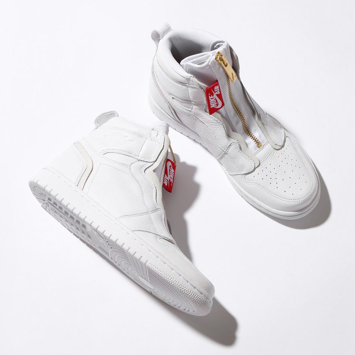 low cost dd9d4 f2e7a NIKE WMNS AIR JORDAN 1 HIGH ZIP (Nike women Air Jordan 1 high zip)  (WHITE WHITE-UNIVERSITY RED) 18SP-S