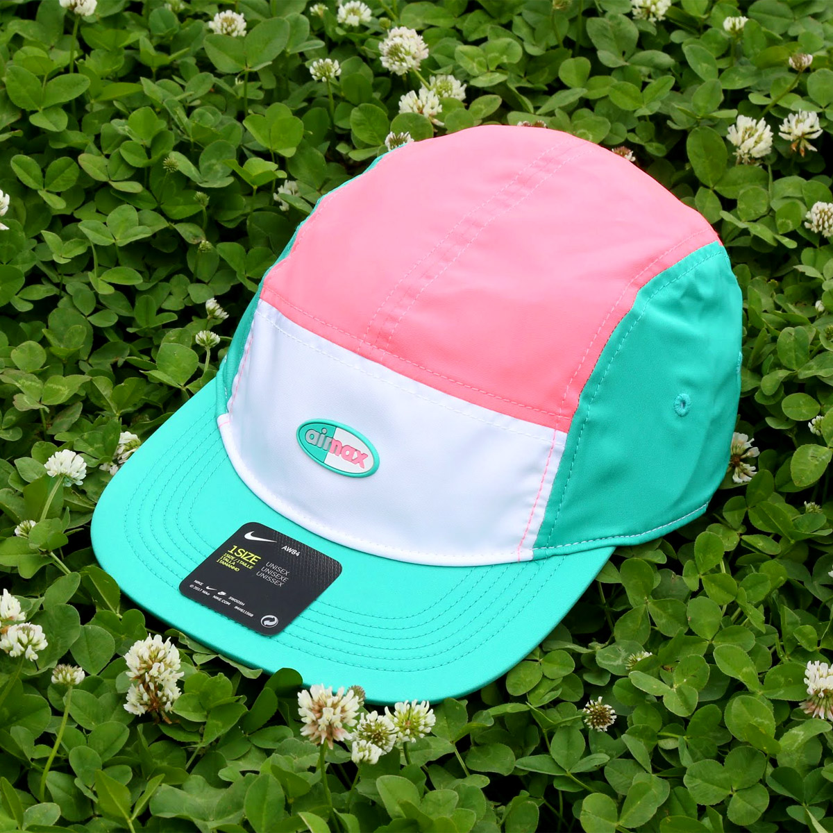 95f45bba615 NIKE U NSW AROBILL AW84 CAP AIR MAX (Kie Ney AMAX AW84 cap) (WHITE SUNSET  PULSE KINETIC GREEN) 18SU-S
