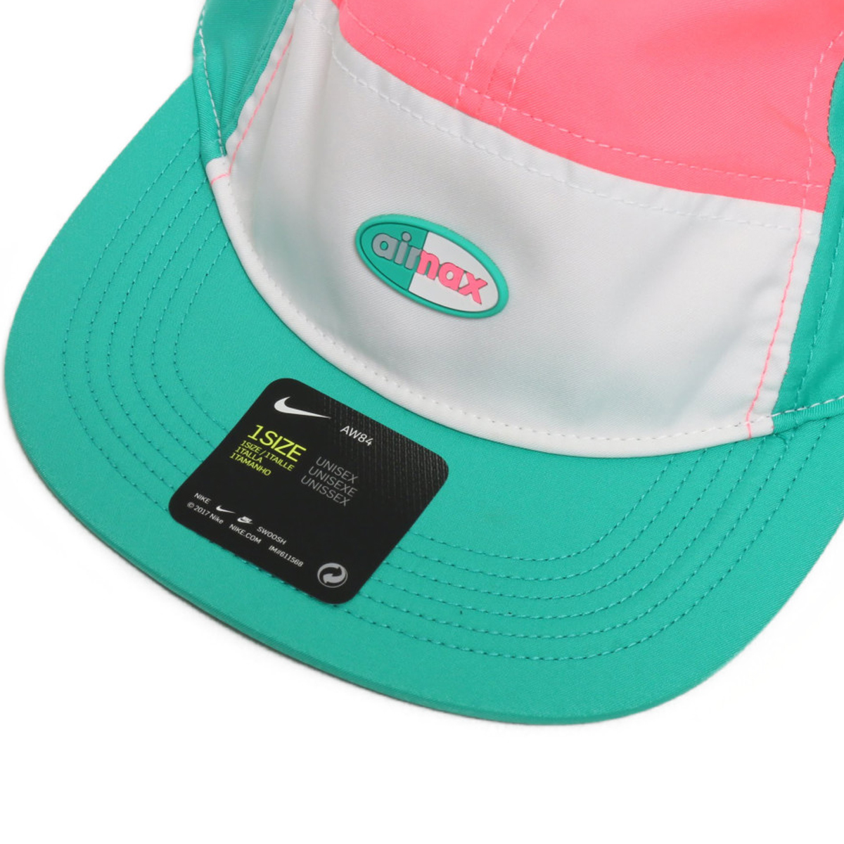 0f7e5ee0d8ff2 NIKE U NSW AROBILL AW84 CAP AIR MAX (Kie Ney AMAX AW84 cap) (WHITE SUNSET  PULSE KINETIC GREEN) 18SU-S