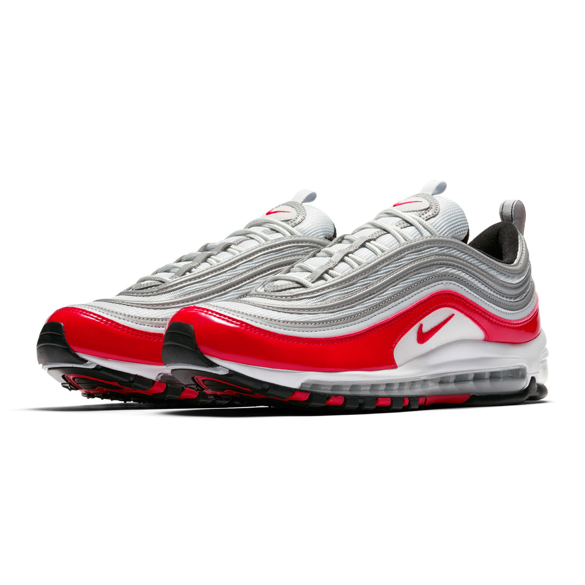 NIKE AIR MAX 97(ナイキ エア マックス 97)(PURE PLATINUM/UNIVERSITY RED-BLACK-WHITE)18SU-I