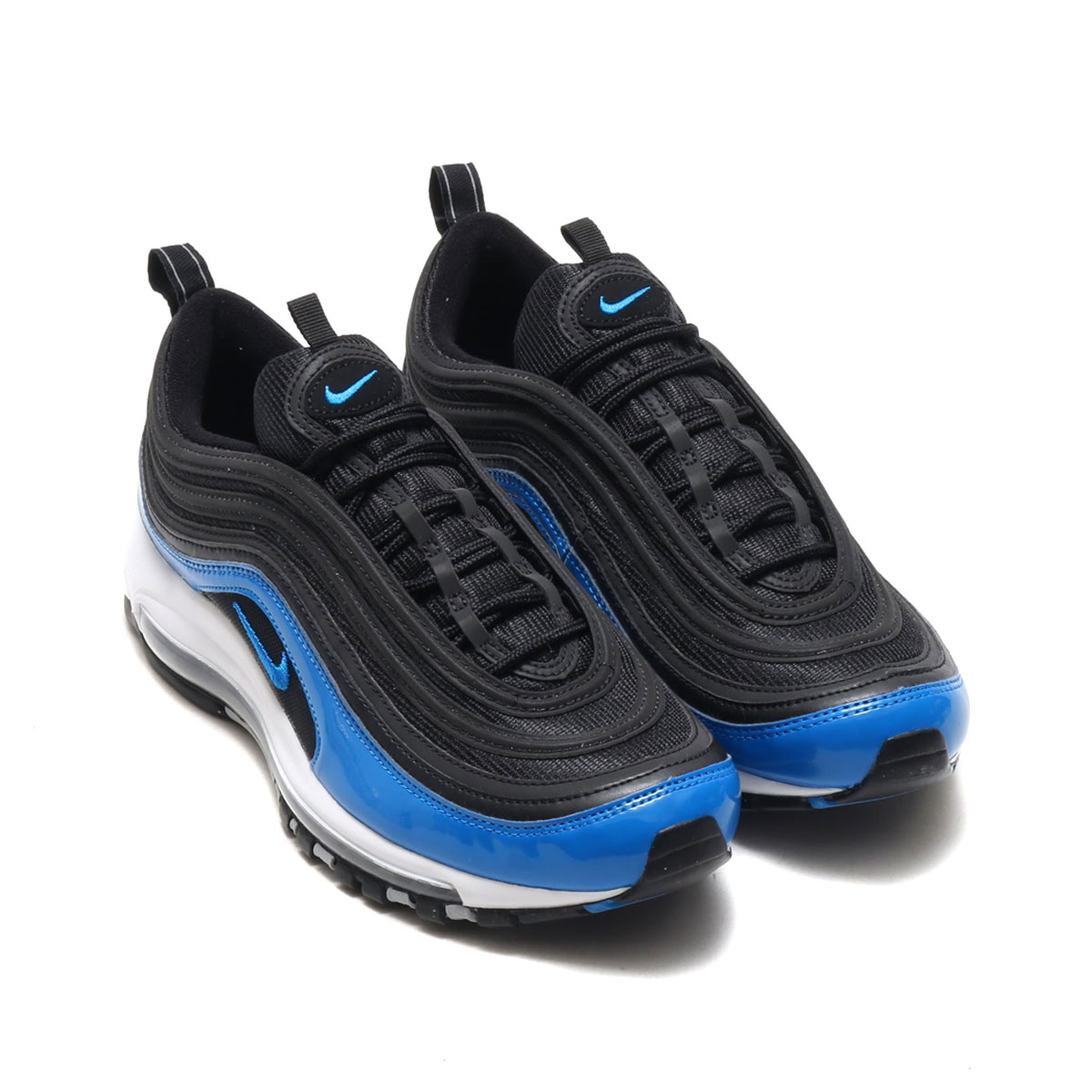super popular 6a060 3fd52 NIKE AIR MAX 97 (Kie Ney AMAX 97) (BLACK BLUE NEBULA-WOLF GREY-WHITE) 18SU-I