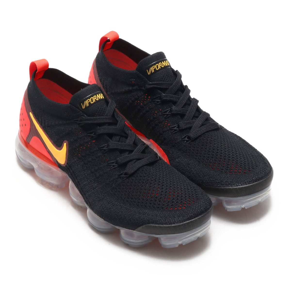 nike air vapormax black and orange