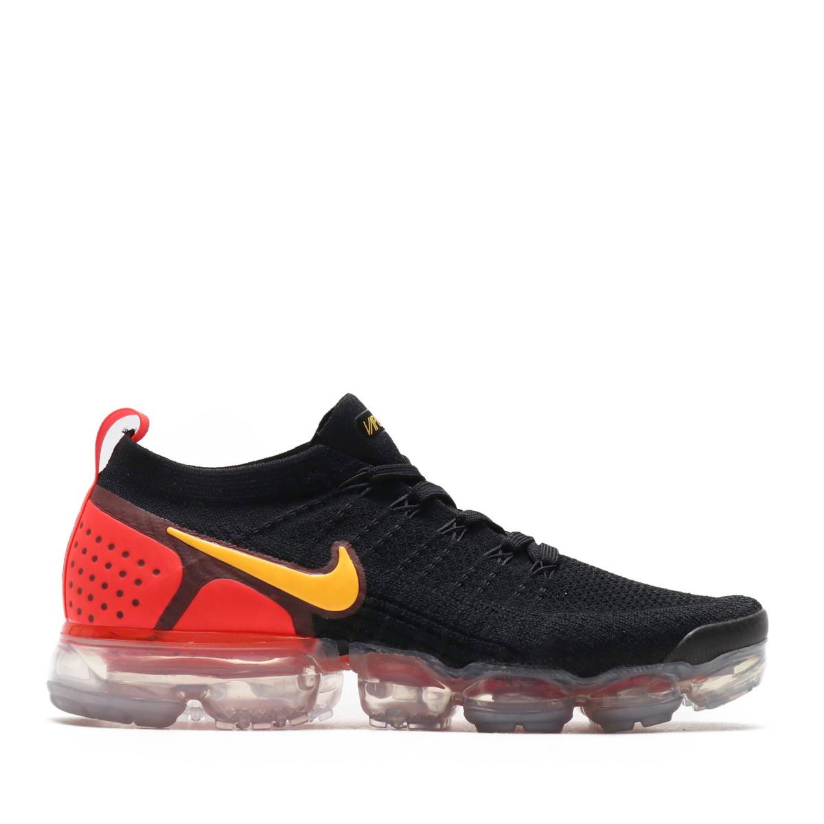 b2842fc1a9d7 NIKE AIR VAPORMAX FLYKNIT 2 (Nike air vapor max fried food knit 2) (BLACK LASER  ORANGE-TOTAL CRIMSON)