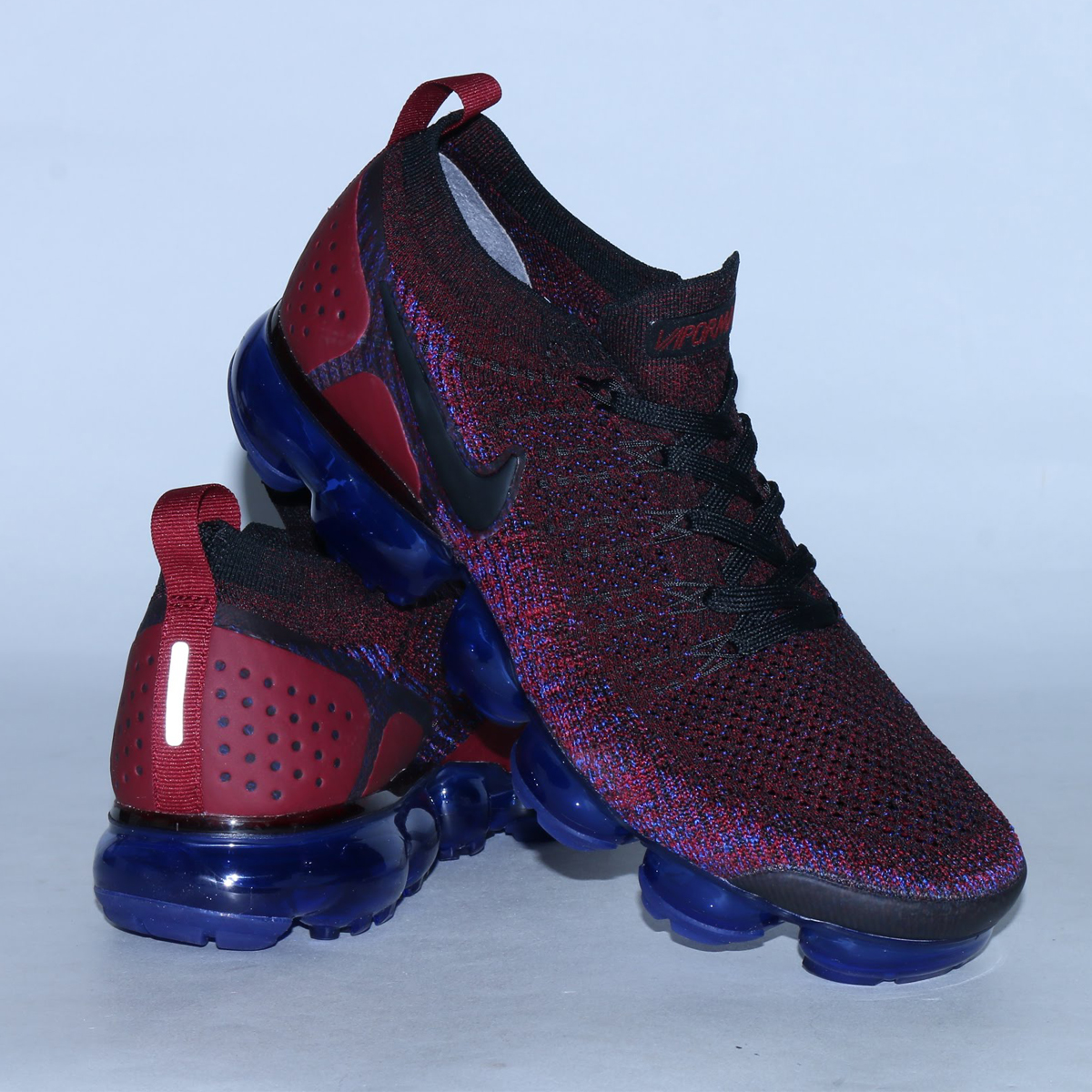 be459d462cc778 NIKE AIR VAPORMAX FLYKNIT 2 (Nike air vapor max fried food knit 2) (BLACK  BLACK-TEAM RED-RACER BLUE) 18SU-S