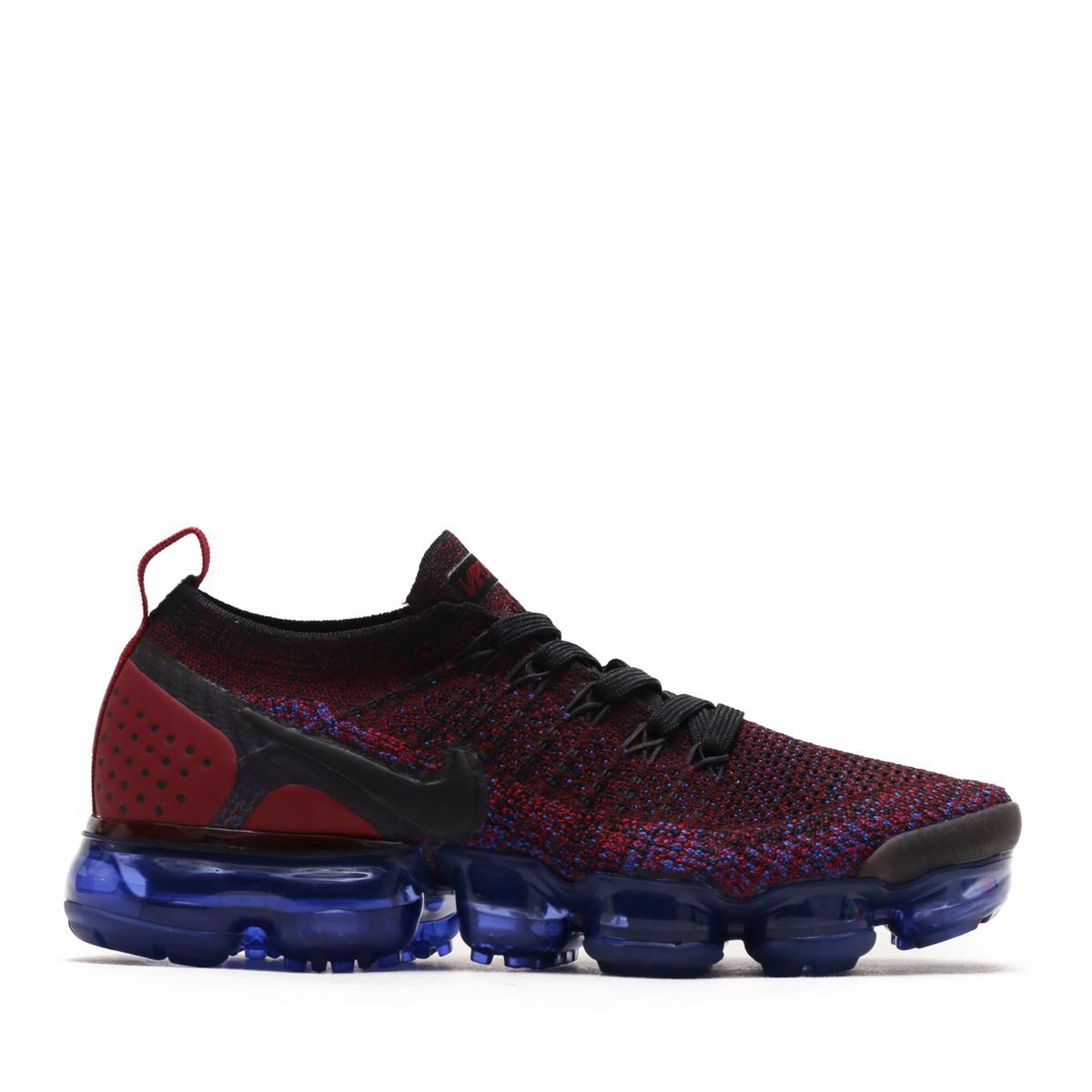0361ab313642 NIKE WMNS AIR VAPORMAX FLYKNIT 2 (Nike women air vapor max fried food knit 2)  (BLACK BLACK-TEAM RED-RACER BLUE) 18SU-S