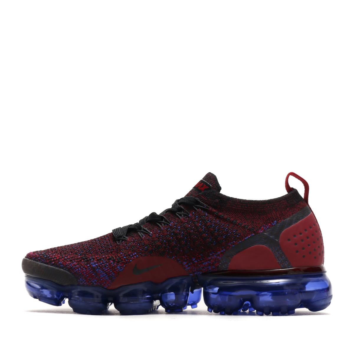 ee344bd0b08 NIKE WMNS AIR VAPORMAX FLYKNIT 2 (Nike women air vapor max fried food knit 2)  (BLACK BLACK-TEAM RED-RACER BLUE) 18SU-S