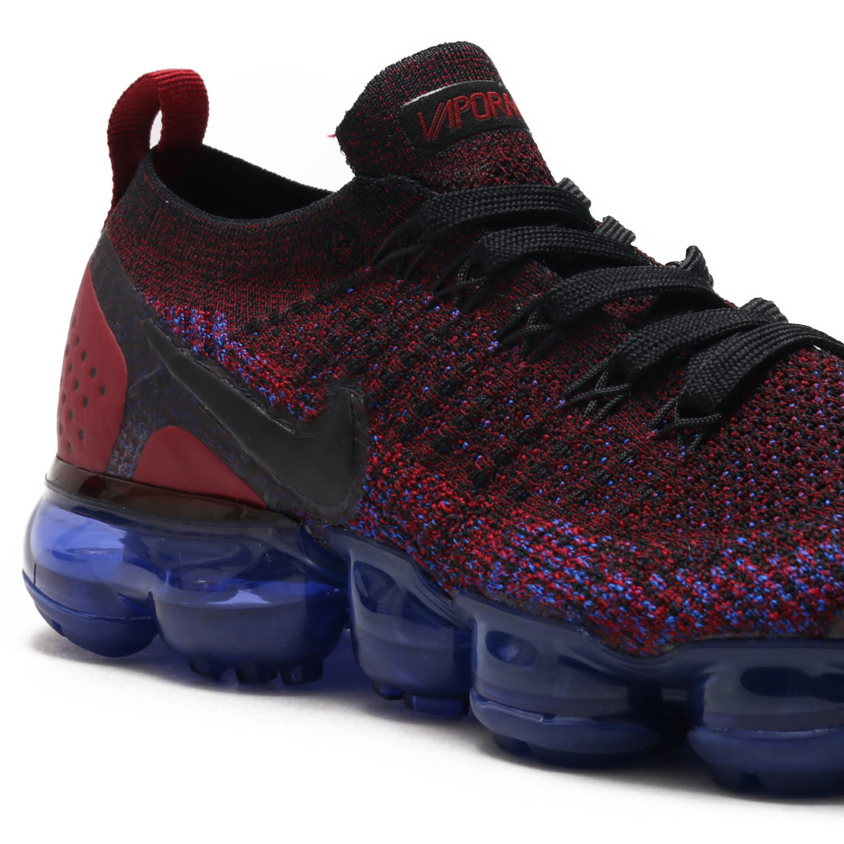 NIKE WMNS AIR VAPORMAX FLYKNIT 2 (Nike women air vapor max fried food knit 2)  (BLACK BLACK-TEAM RED-RACER BLUE) 18SU-S 25004e285
