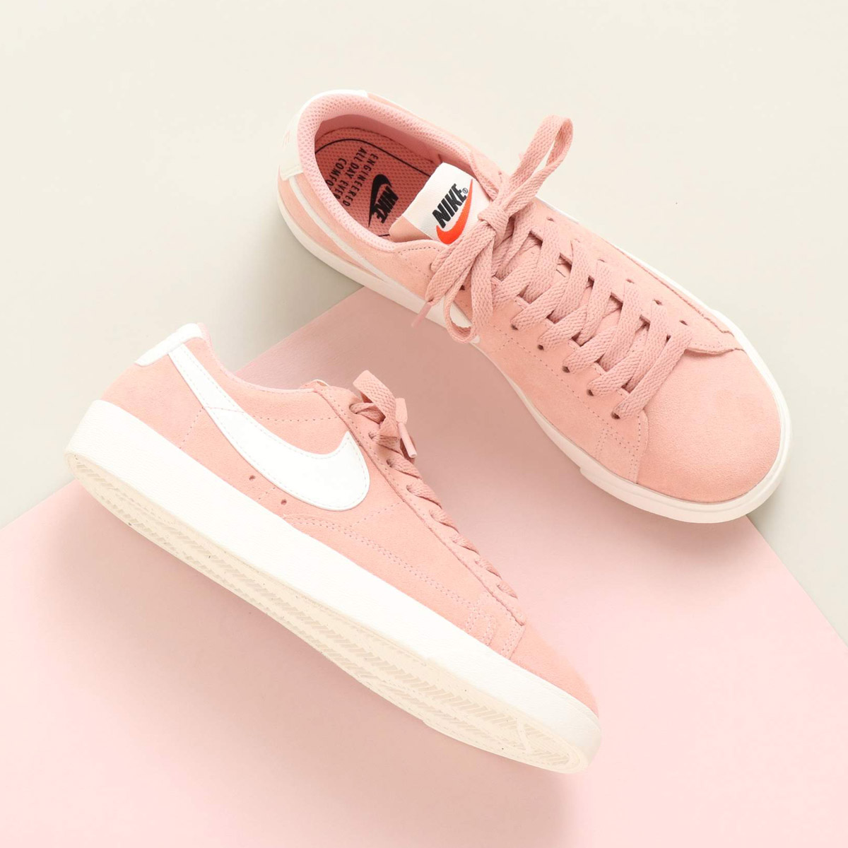 premium selection 24c60 24f4b As for the inspire done Nike women blazer low, the suede upper provides a  feeling of premium fitting using autoclave structure for basketball.
